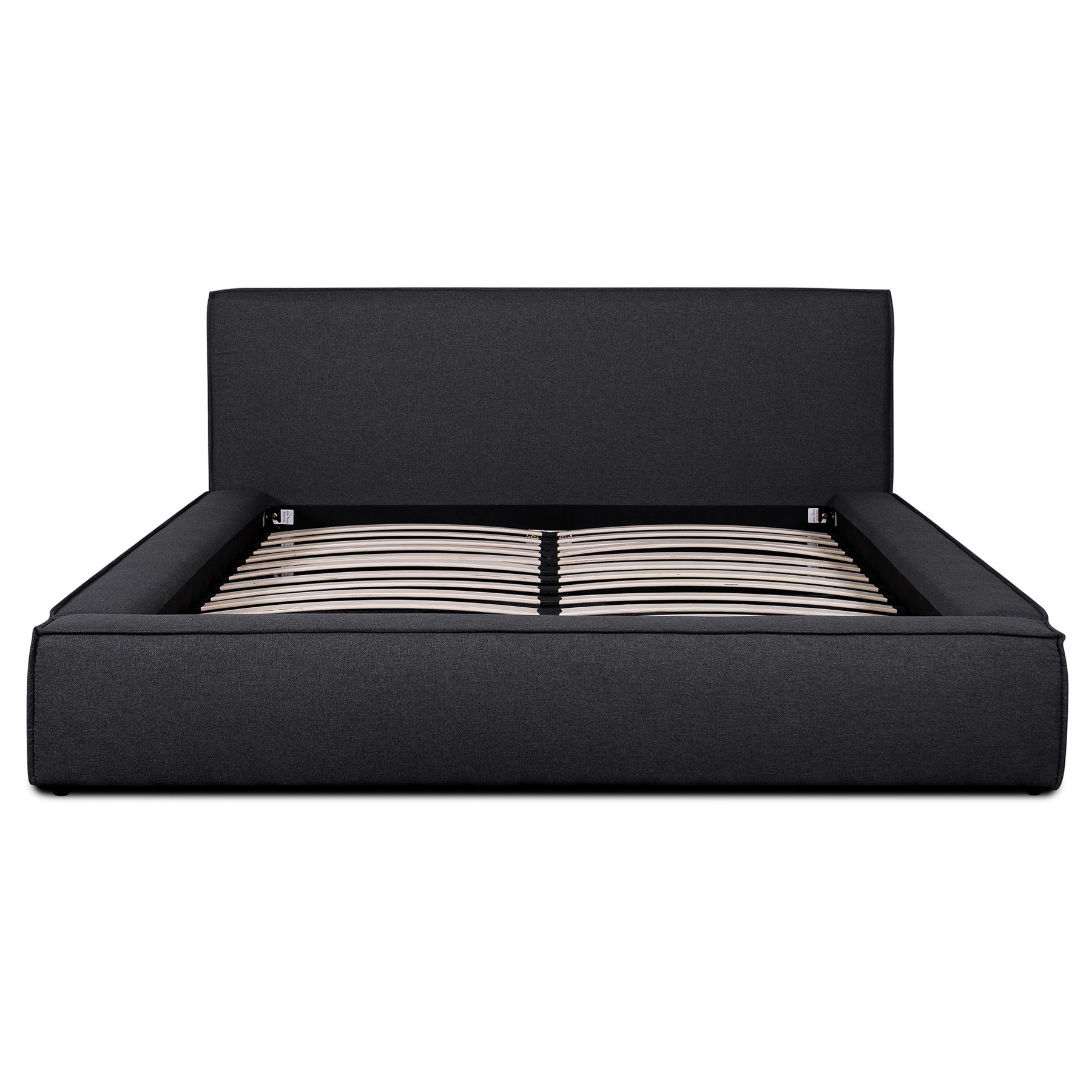 Bullio Fabric Platform Bed, King, Fossil Grey