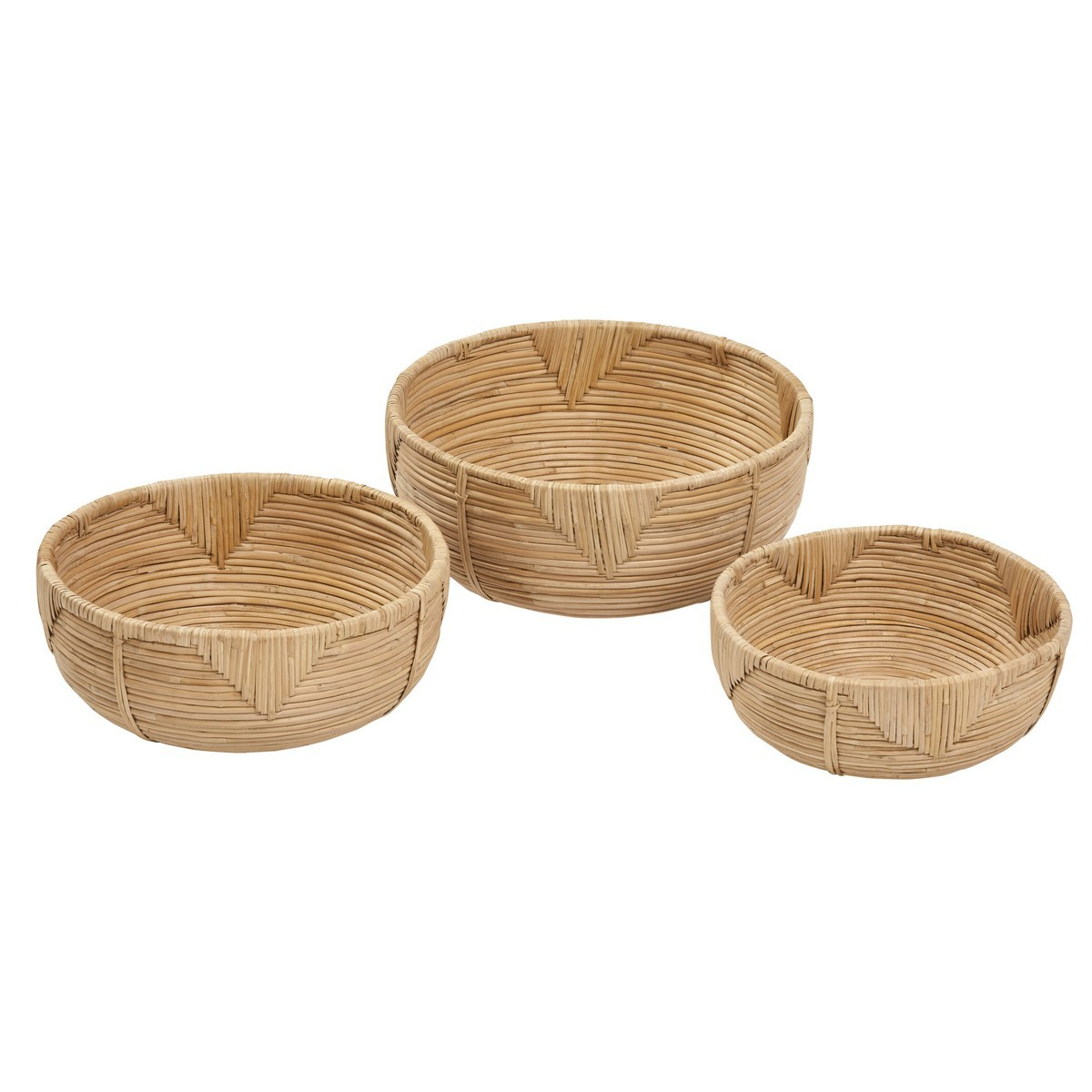 Fairley 3 Piece Cane Bowl Set