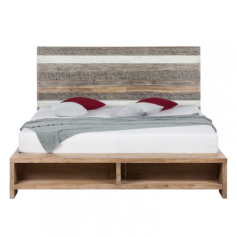 Courtney Recycled Acacia Timber Platform Bed, Queen