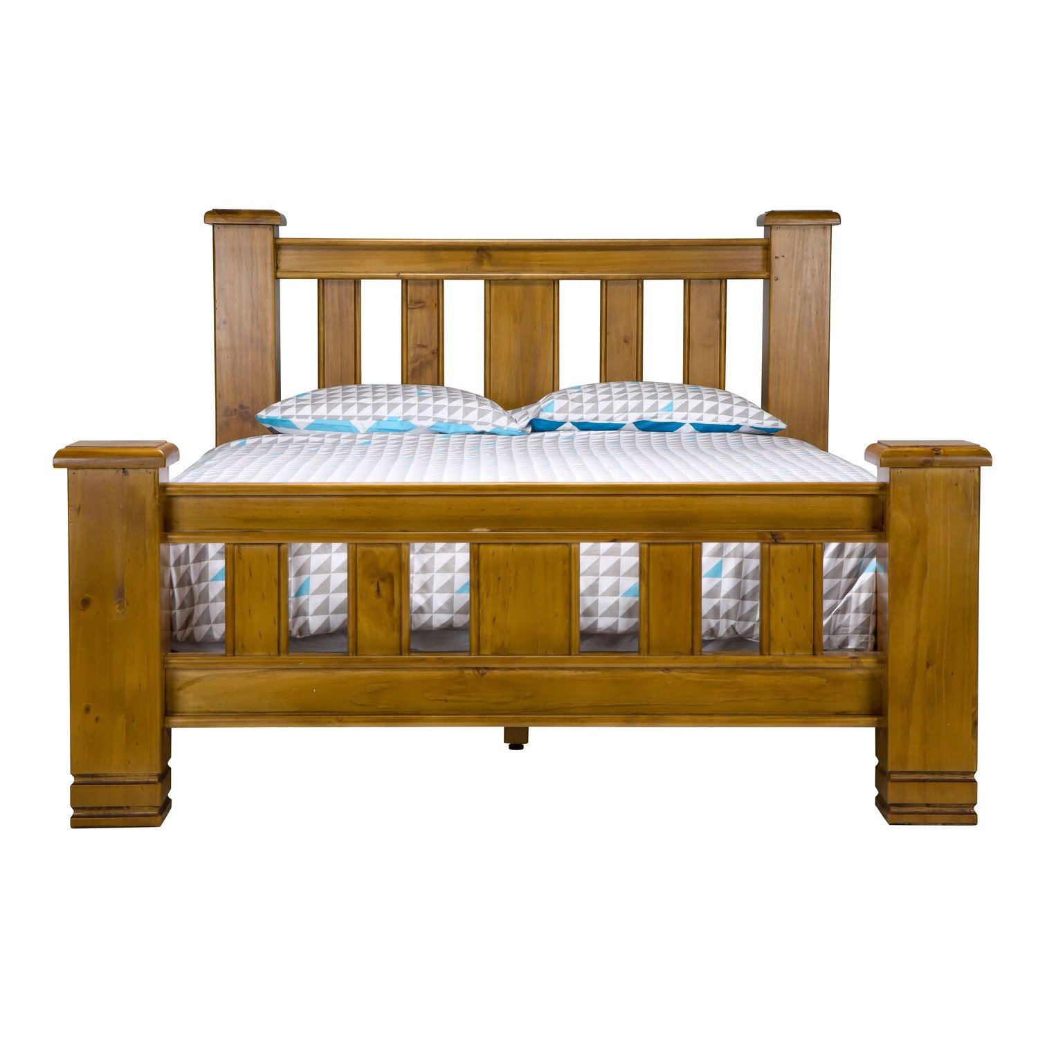 Langston Pine Timber Bed, Queen