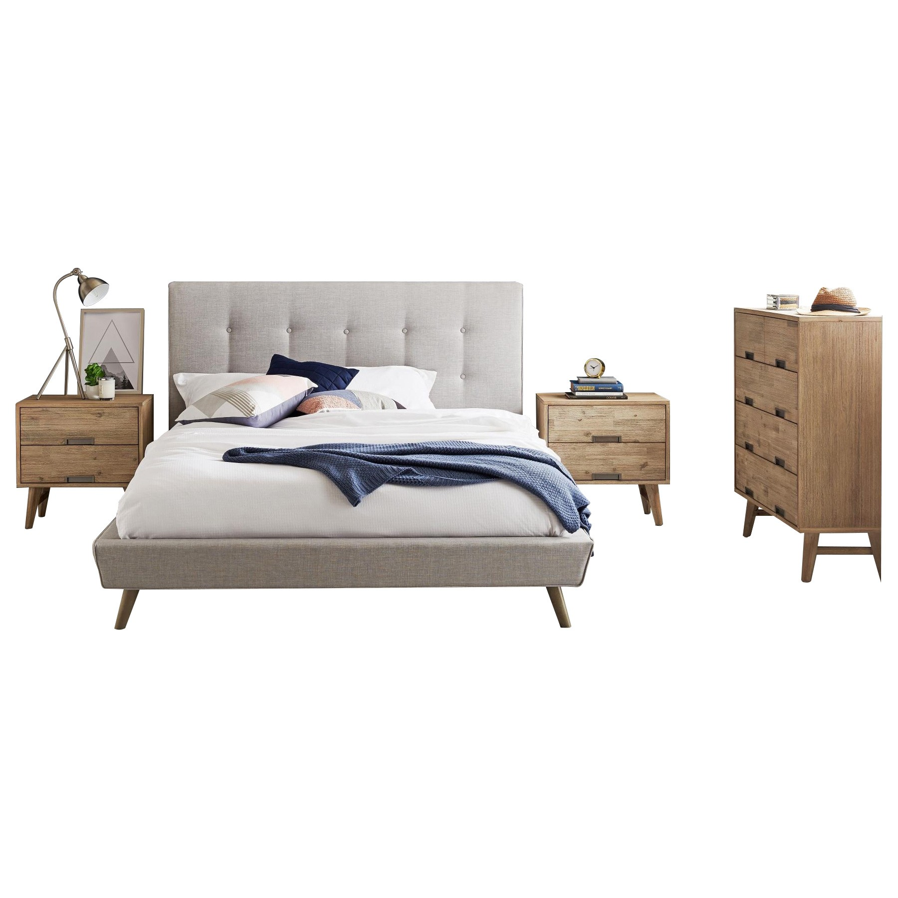 Miya & Telsa 4 Piece Bedroom Tallboy Suite, Queen