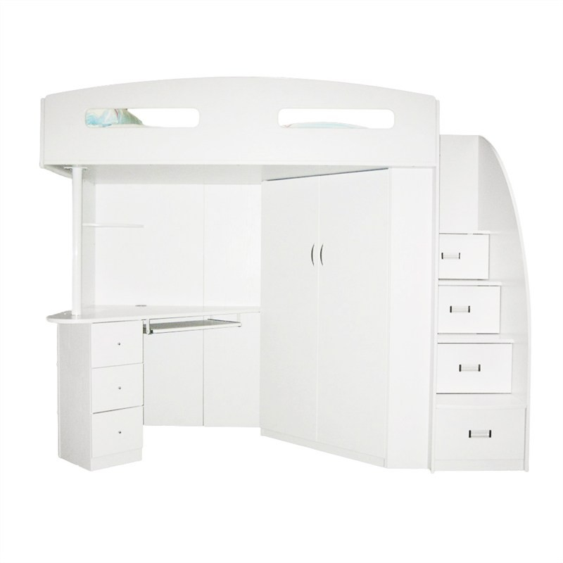 Kalora Loft Bed, Single, White