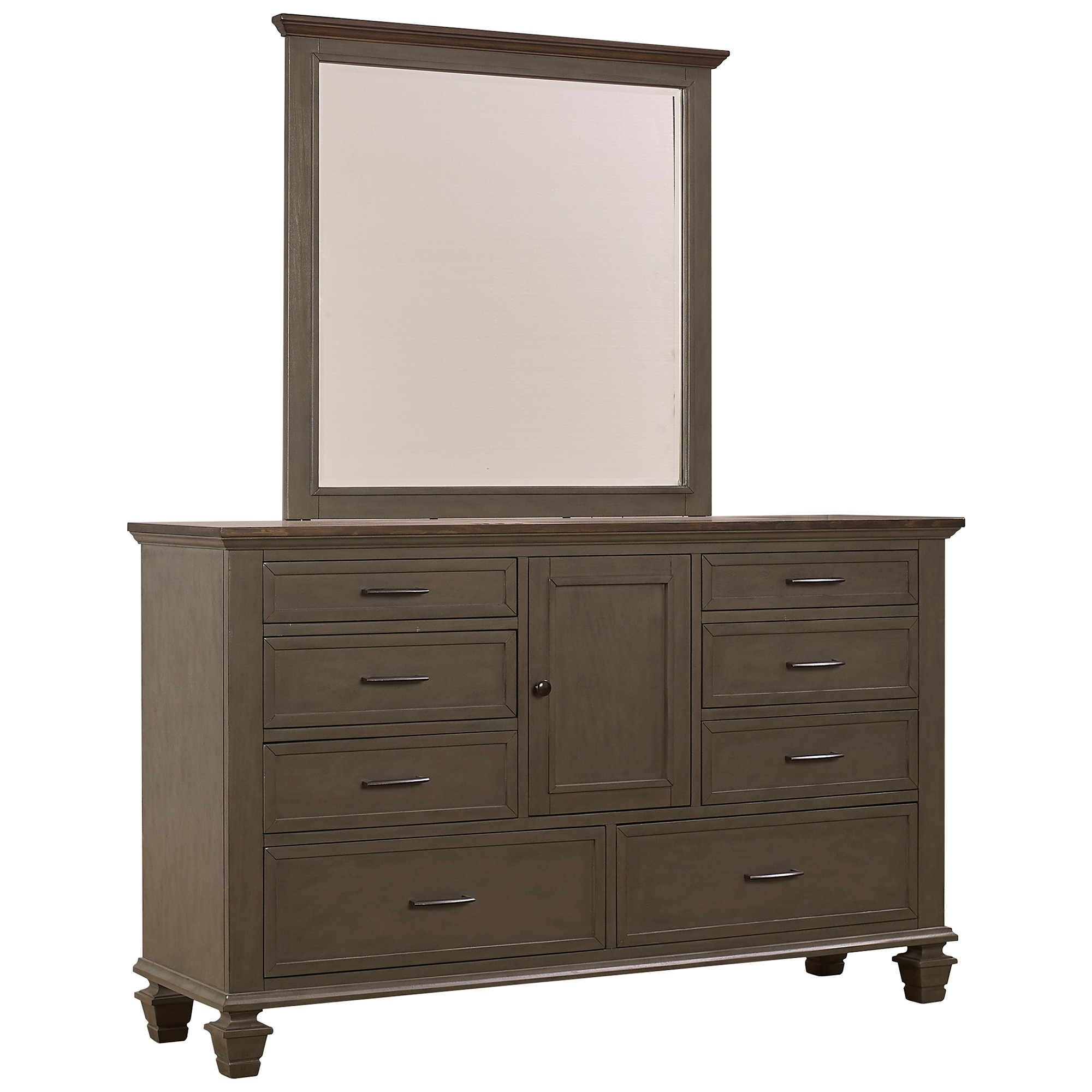 Telfer Poplar Timber 1 Door 8 Drawer Dresser with Mirror