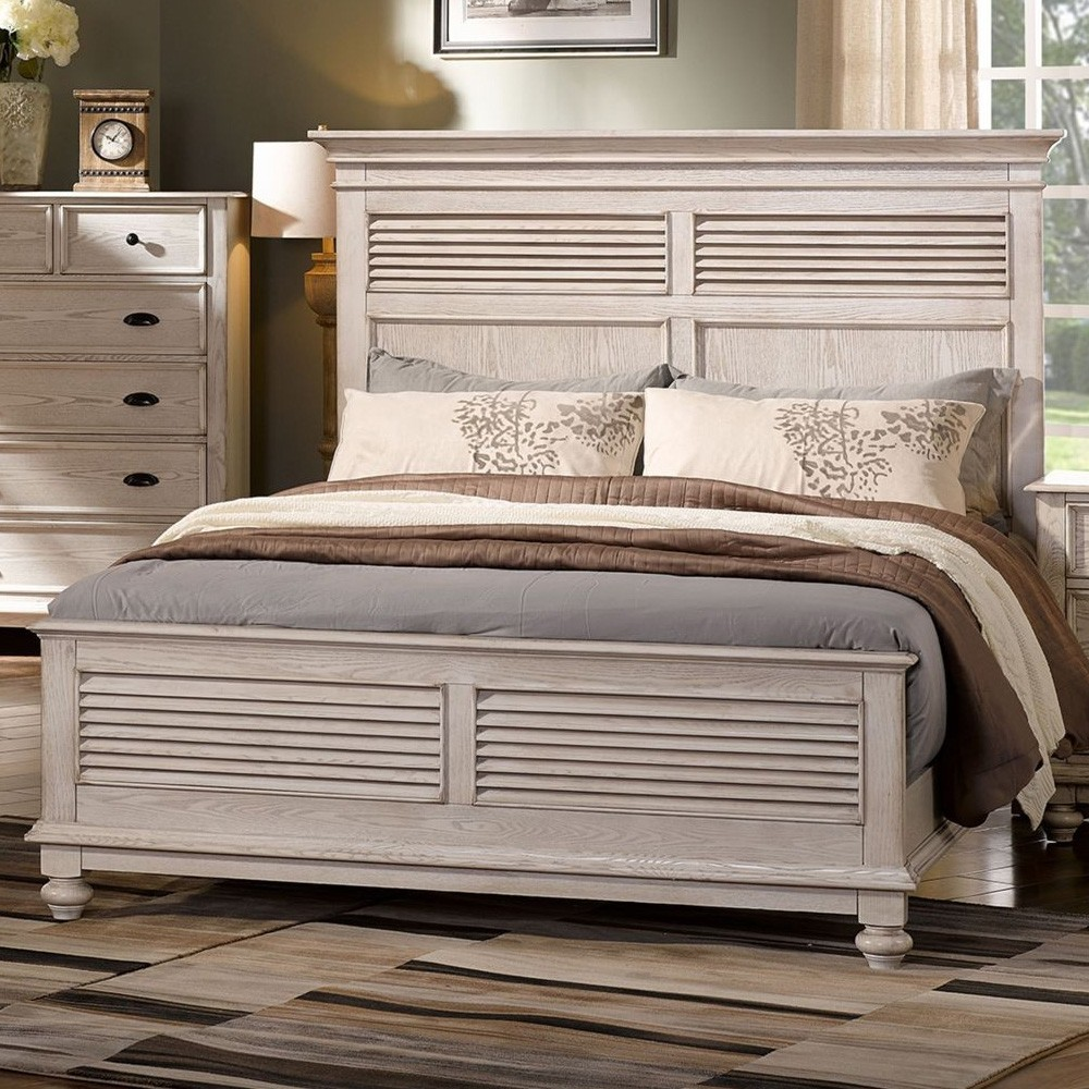 California Solid Timber Bed, Queen, White