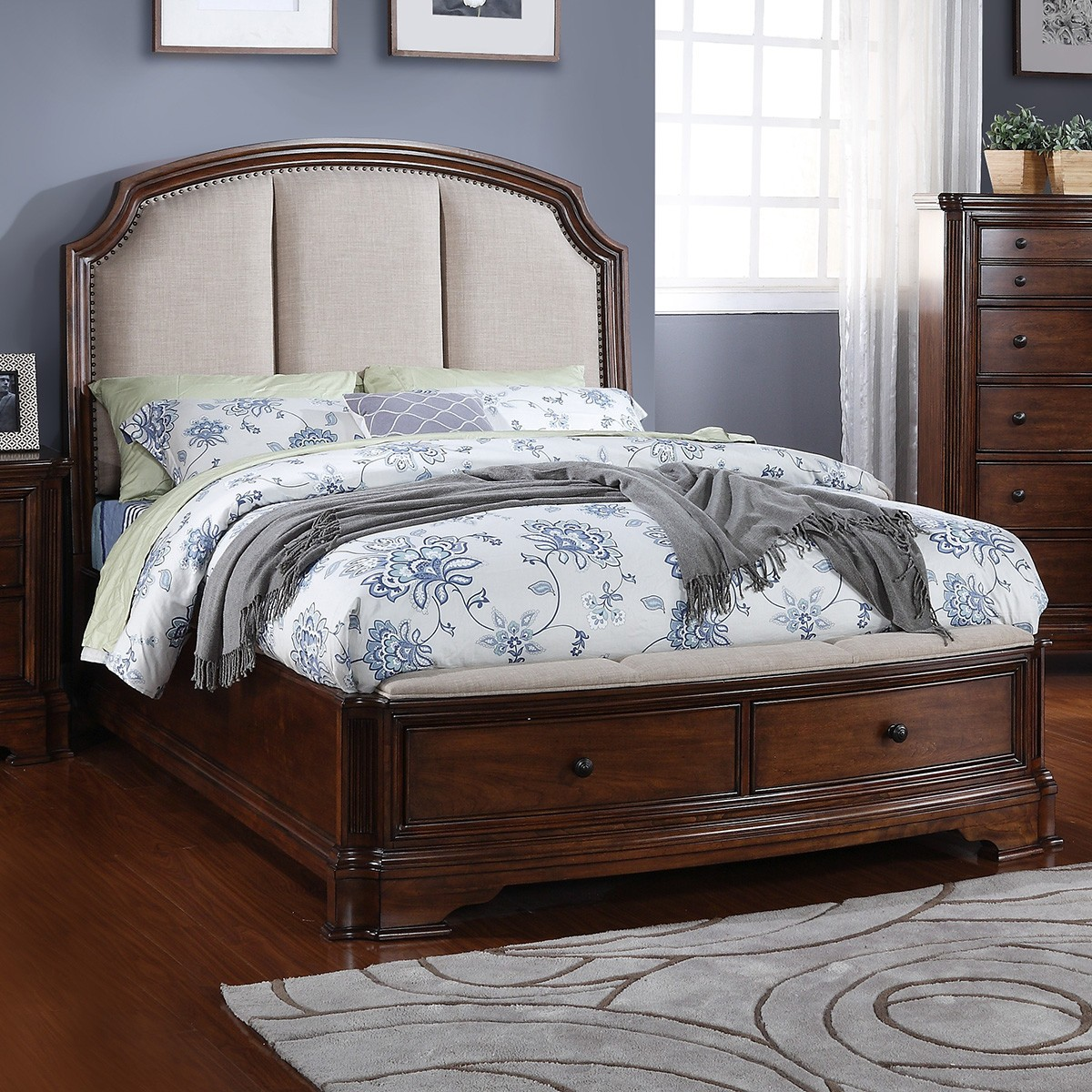Barton Solid Timber Bed, Queen