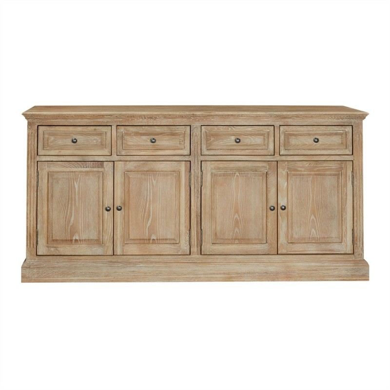 Georgian Solid American Oak Timber 4 Door 4 Drawer 172cm Buffet Table