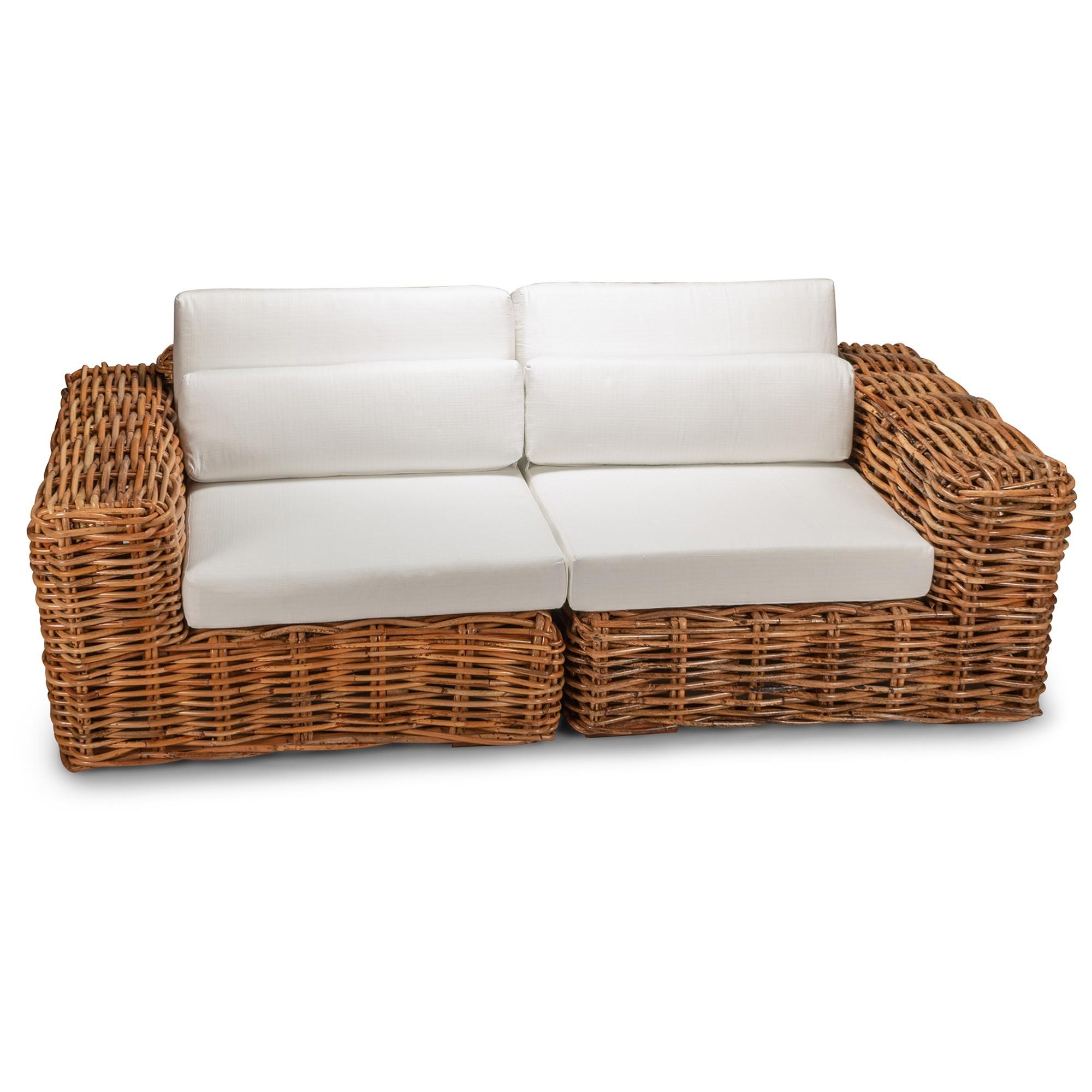 Bowen Rattan Sofa, 2.5 Seater