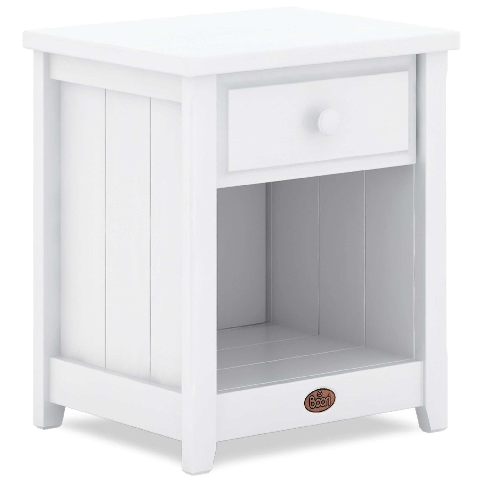 Boori Universal Wooden Bedside Table, Barley White