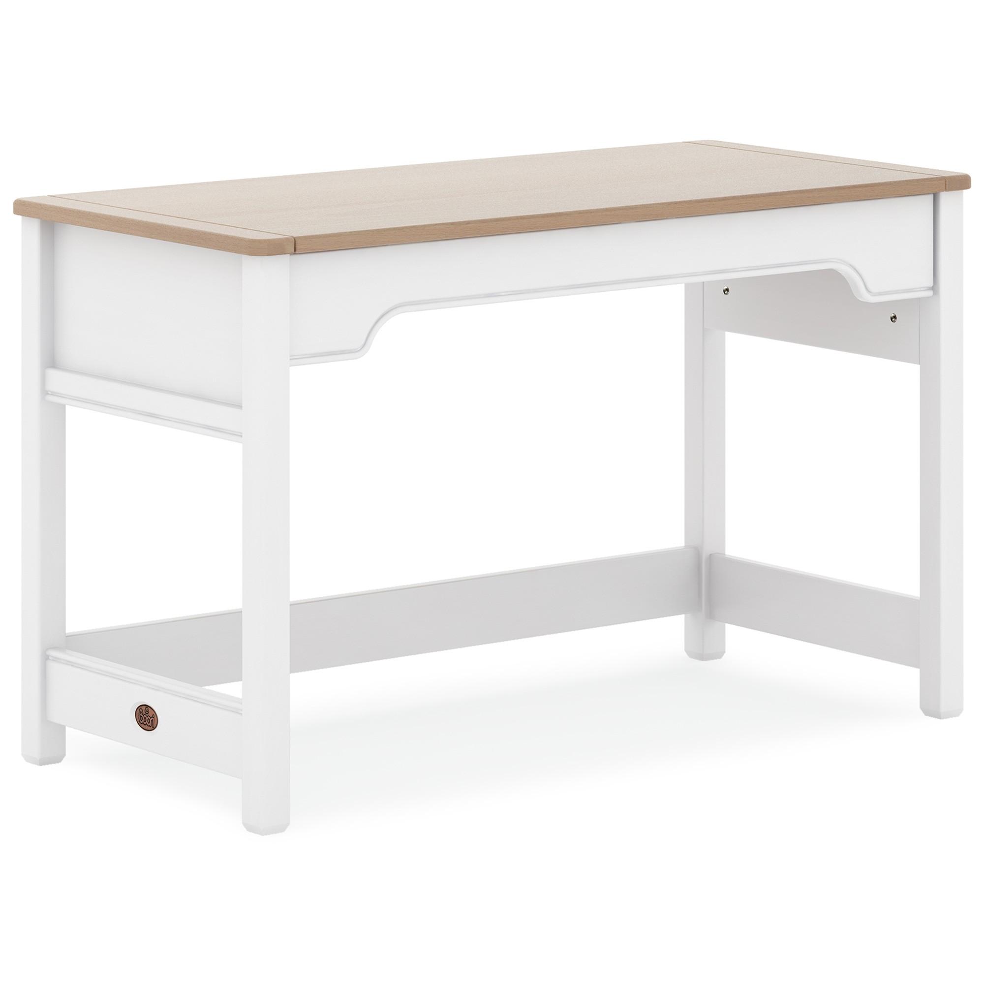 Boori Universal Wooden Desk, 122cm, Truffle / Barley White