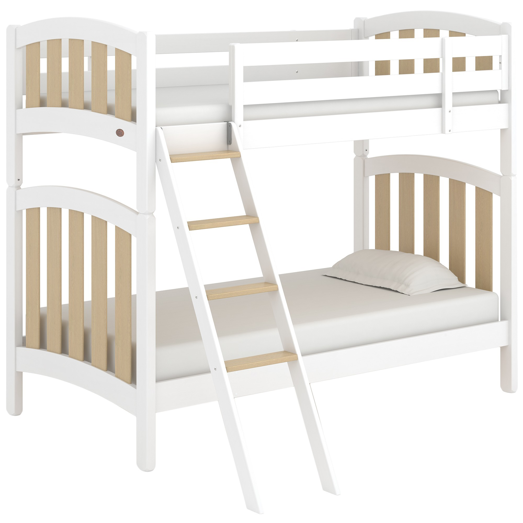 Boori Milano Wooden Bunk Bed, King Single, Barley White / Almond