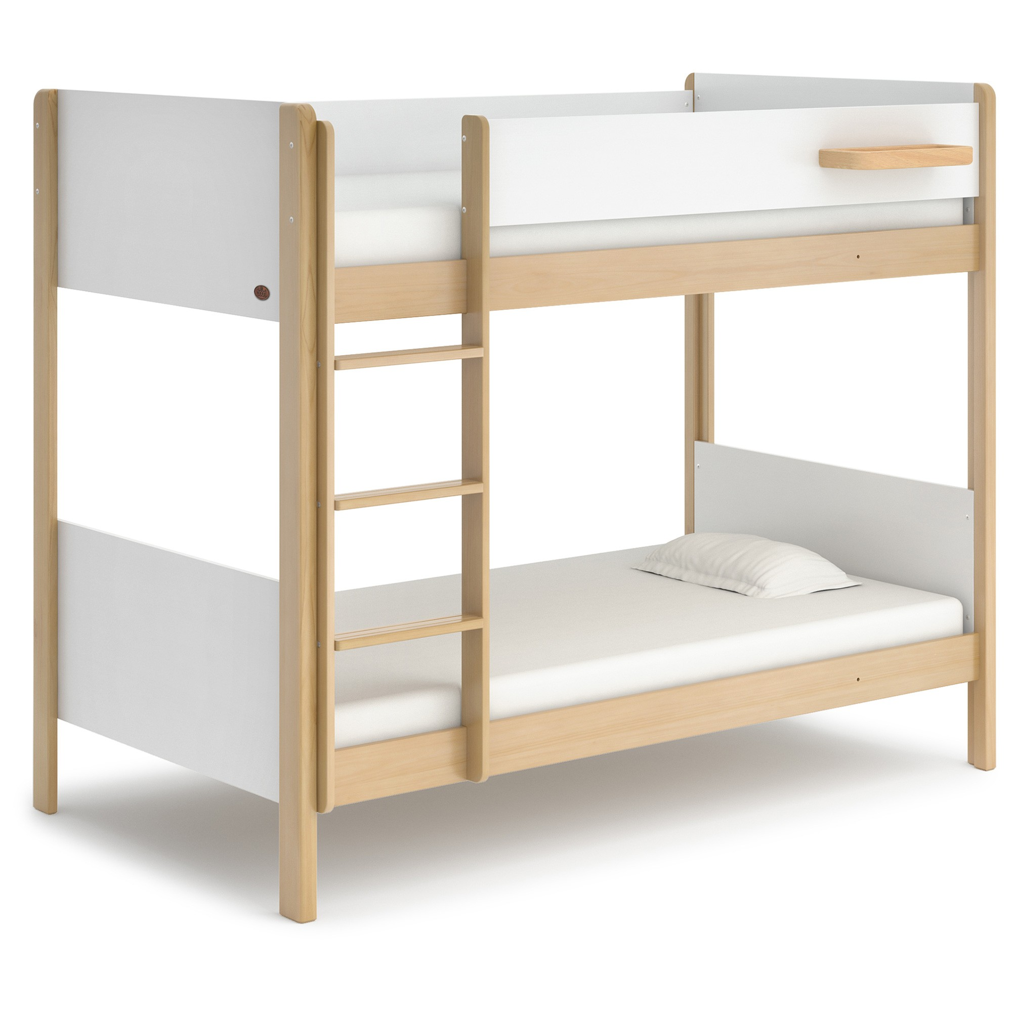 Boori Natty Wooden Bunk Bed, King Single, Barley White / Almond