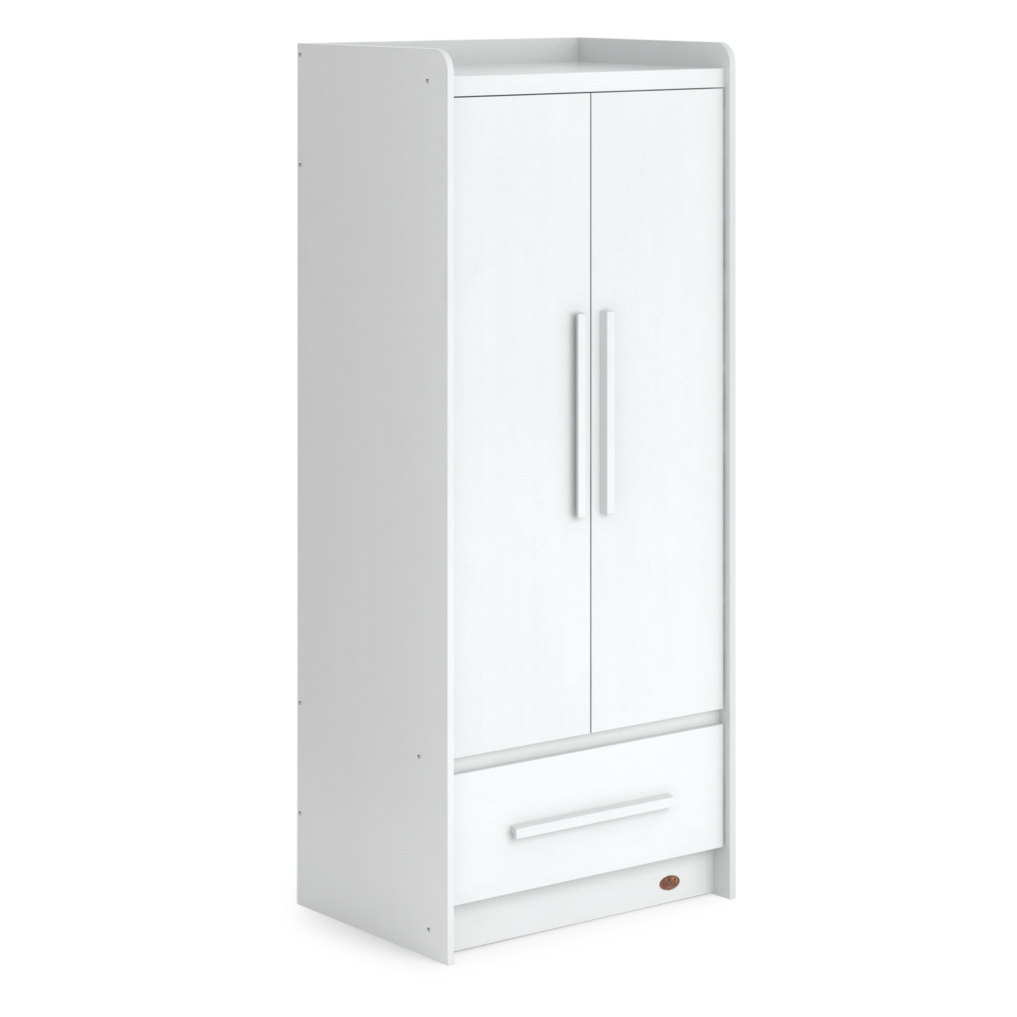 Boori Neat Wooden 2 Door Wardrobe, Barley White