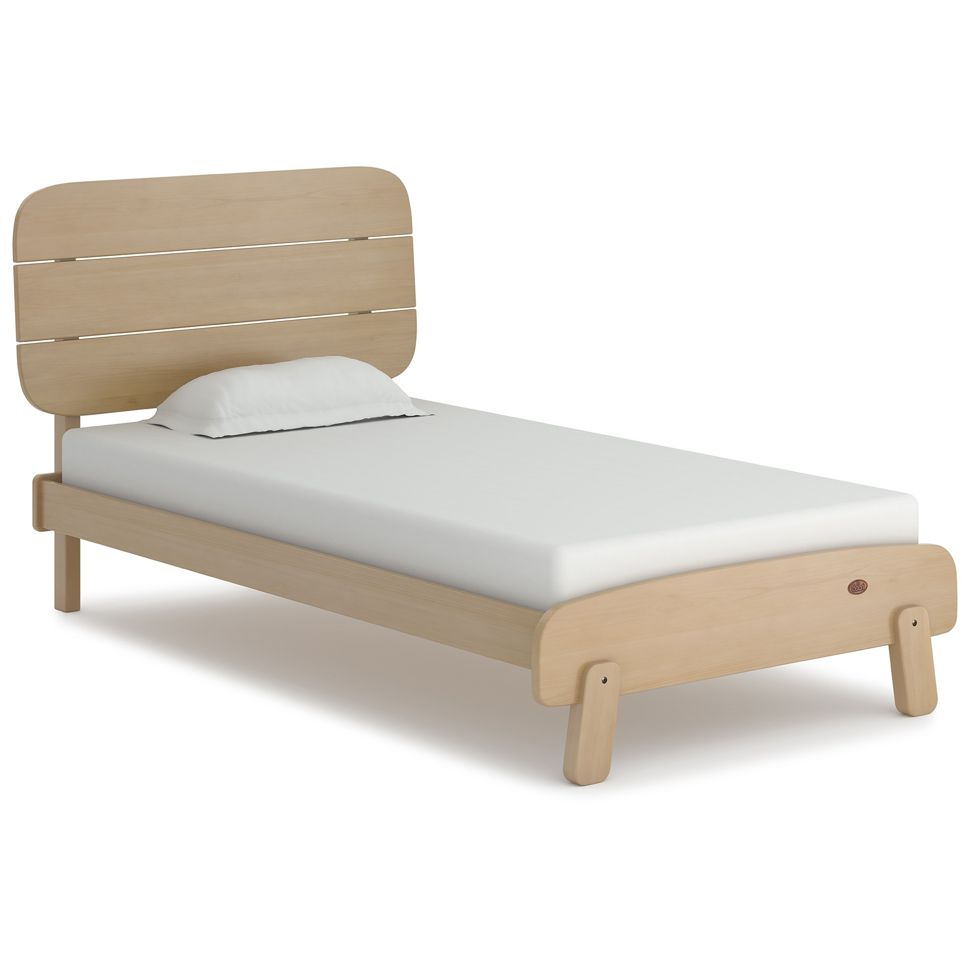 Boori Paddington Wooden Bed, King Single, Almond