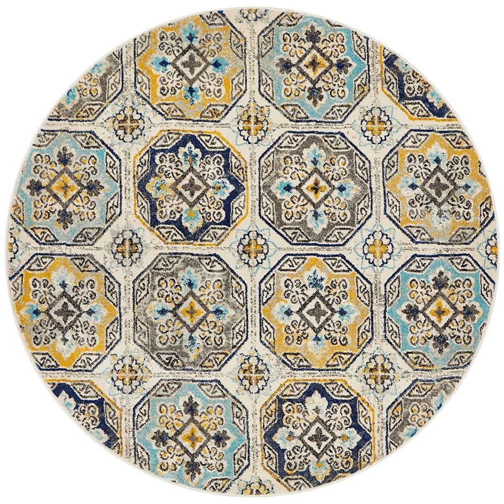 Babylon Hermione Bohemian Round Rug, 200cm, Blue