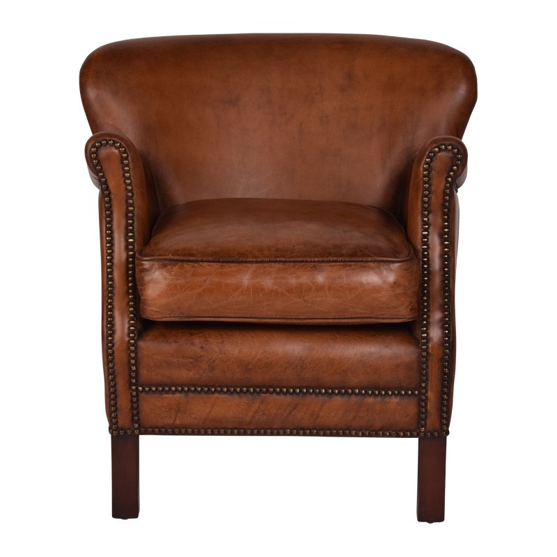 Brooks Aged Leather Armchair
