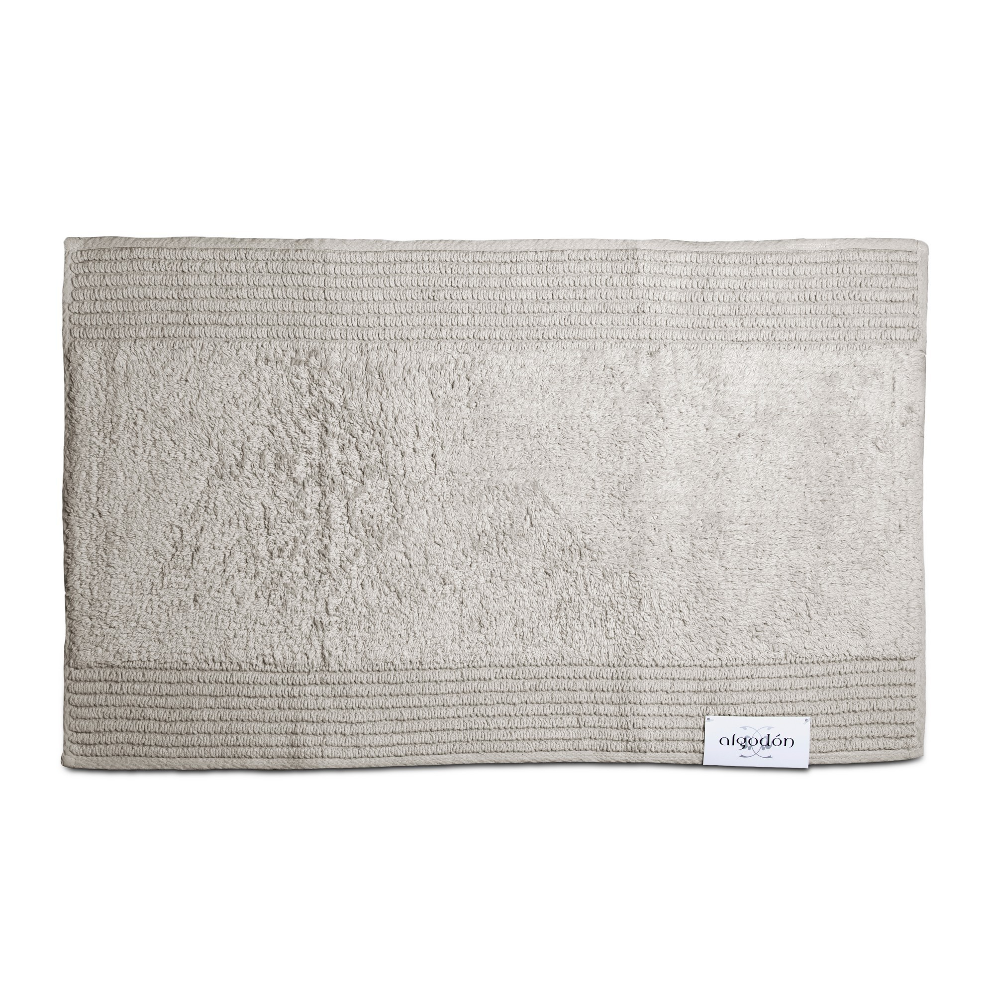 Algodon Mila Cotton Bath Mat, 50x80cm, Light Grey
