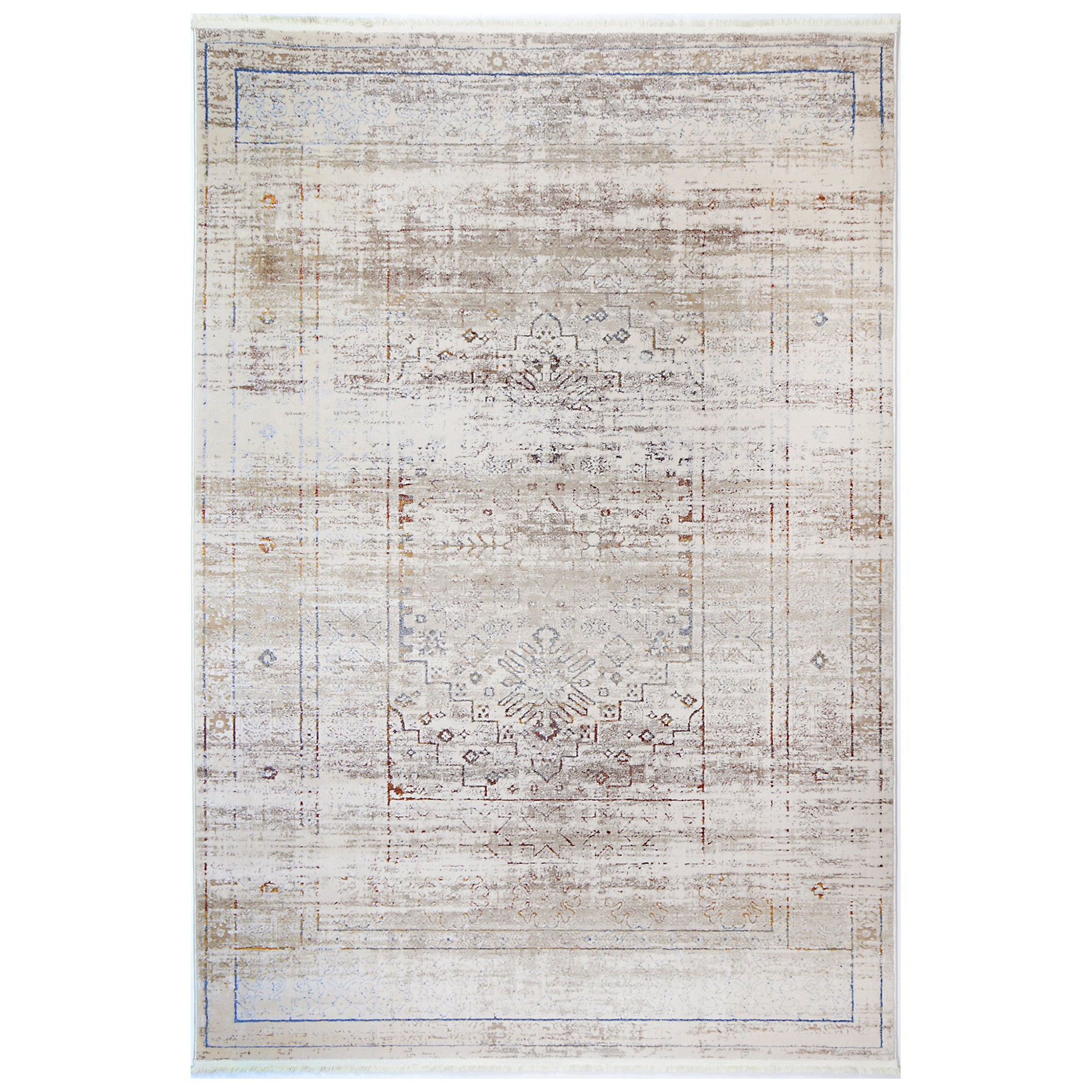 Bohemian Paradise No.04 Transitional Rug, 330x240cm, Beige Multi