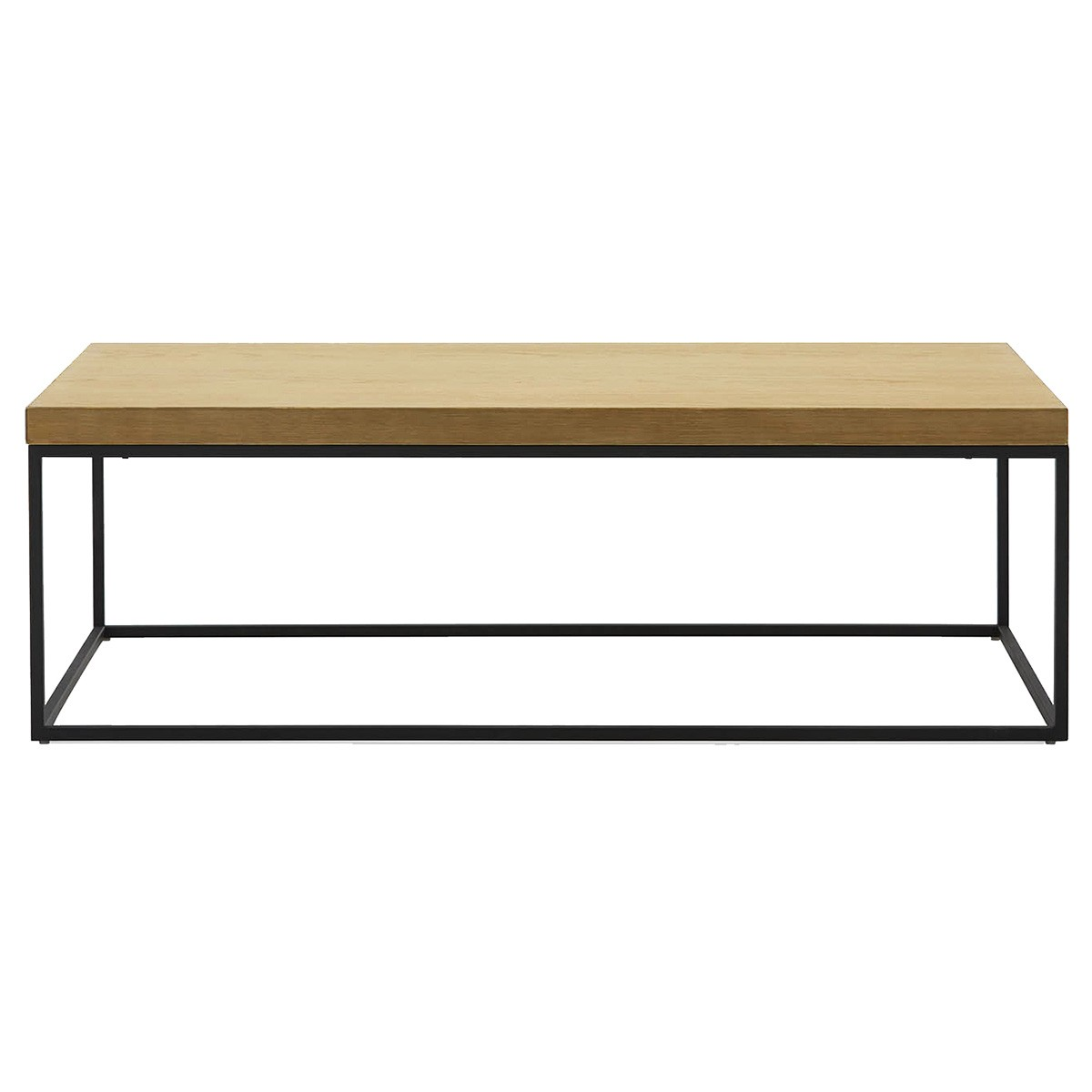 Bexy Wooden Top Metal Coffee Table, 120cm