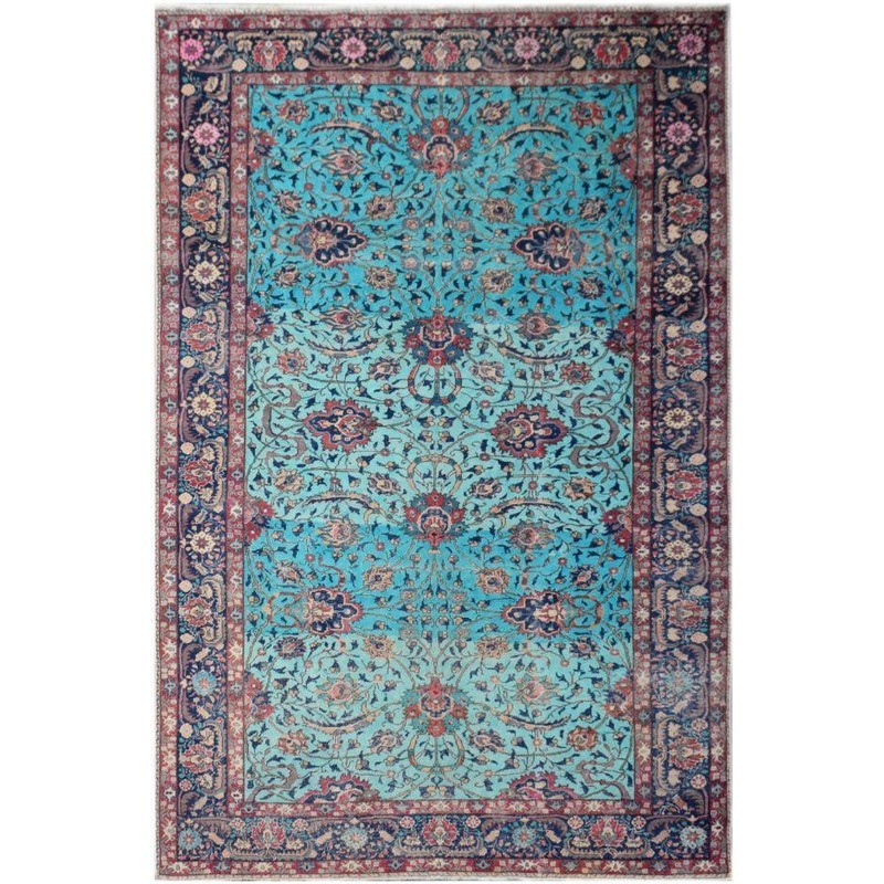 One of A Kind Musa Hand Knotted Wool Persian Rug, 297x197cm
