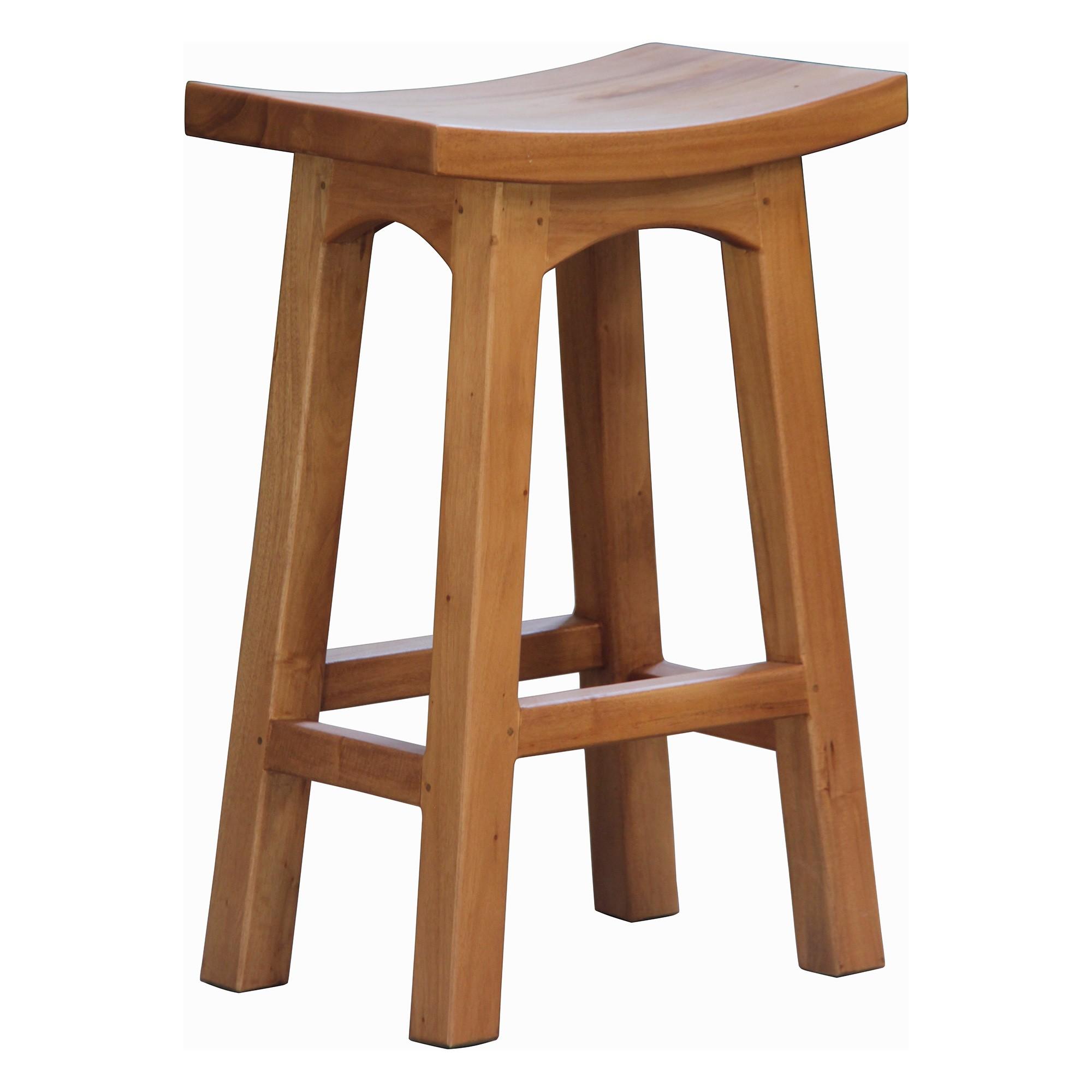 Showa Mahogany Timber Counter Stool, Caramel