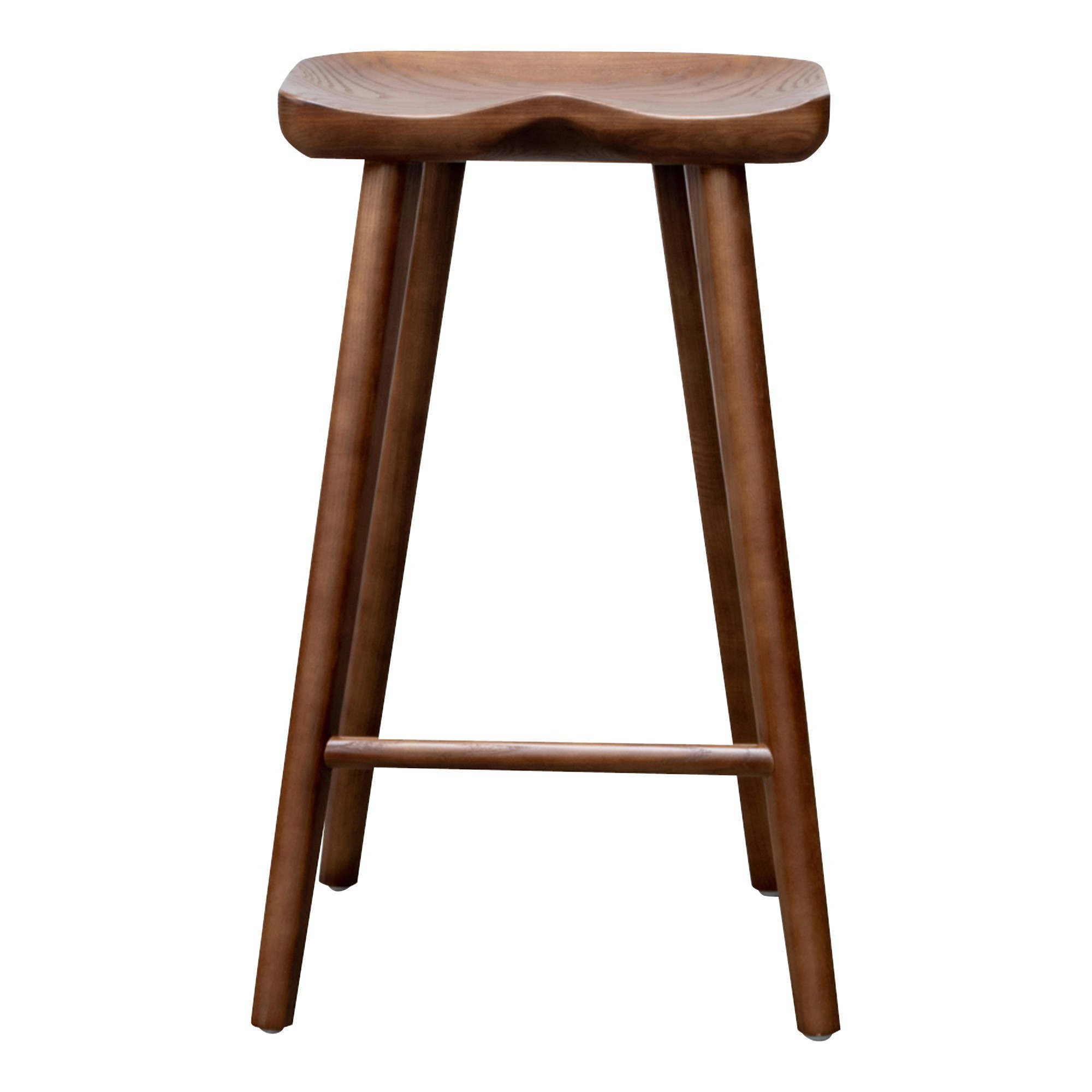 Assens Ash Timber Counter Stool, Walnut