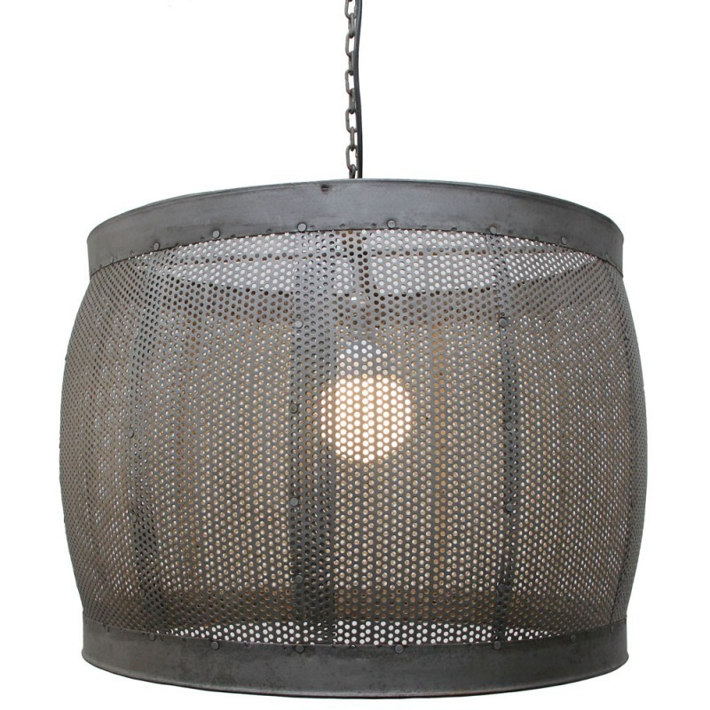 Tadaaki Perforated Steel Pendant Light - Small