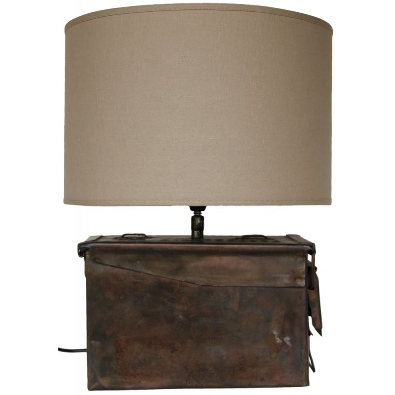 Tetney Metal Ammunition Box Table Lamp