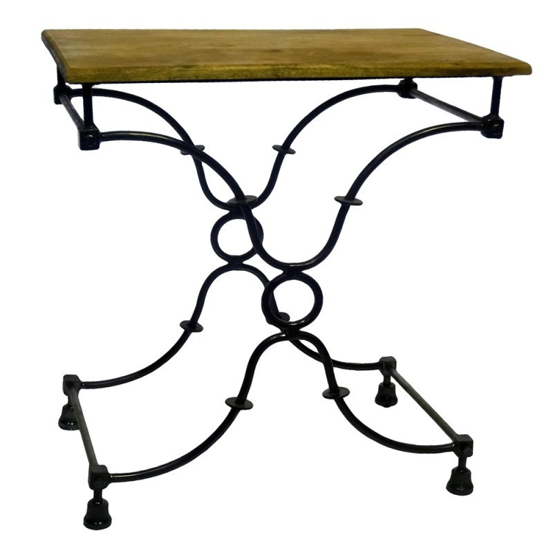 Creek 60cm Iron Side Table with Timber Top