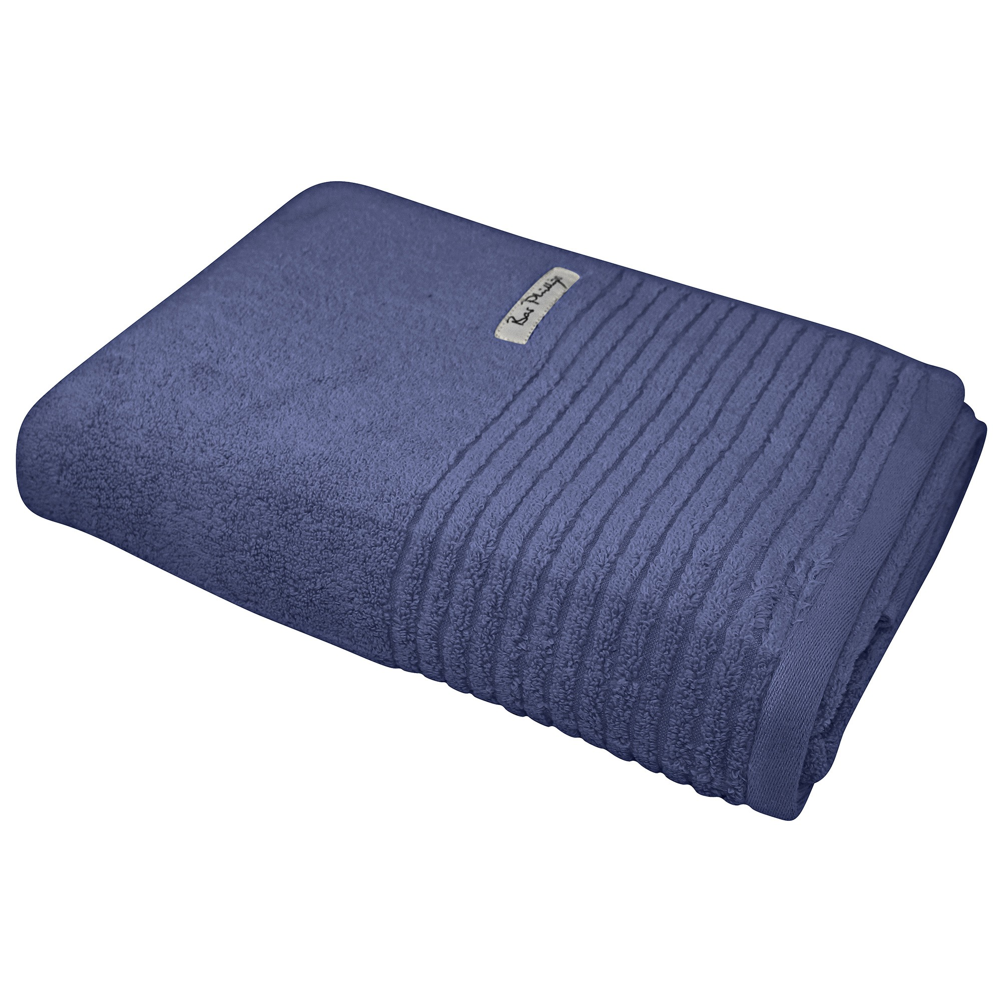Bas Phillips Hayman Zero Twist Cotton Bath Sheet, Indigo