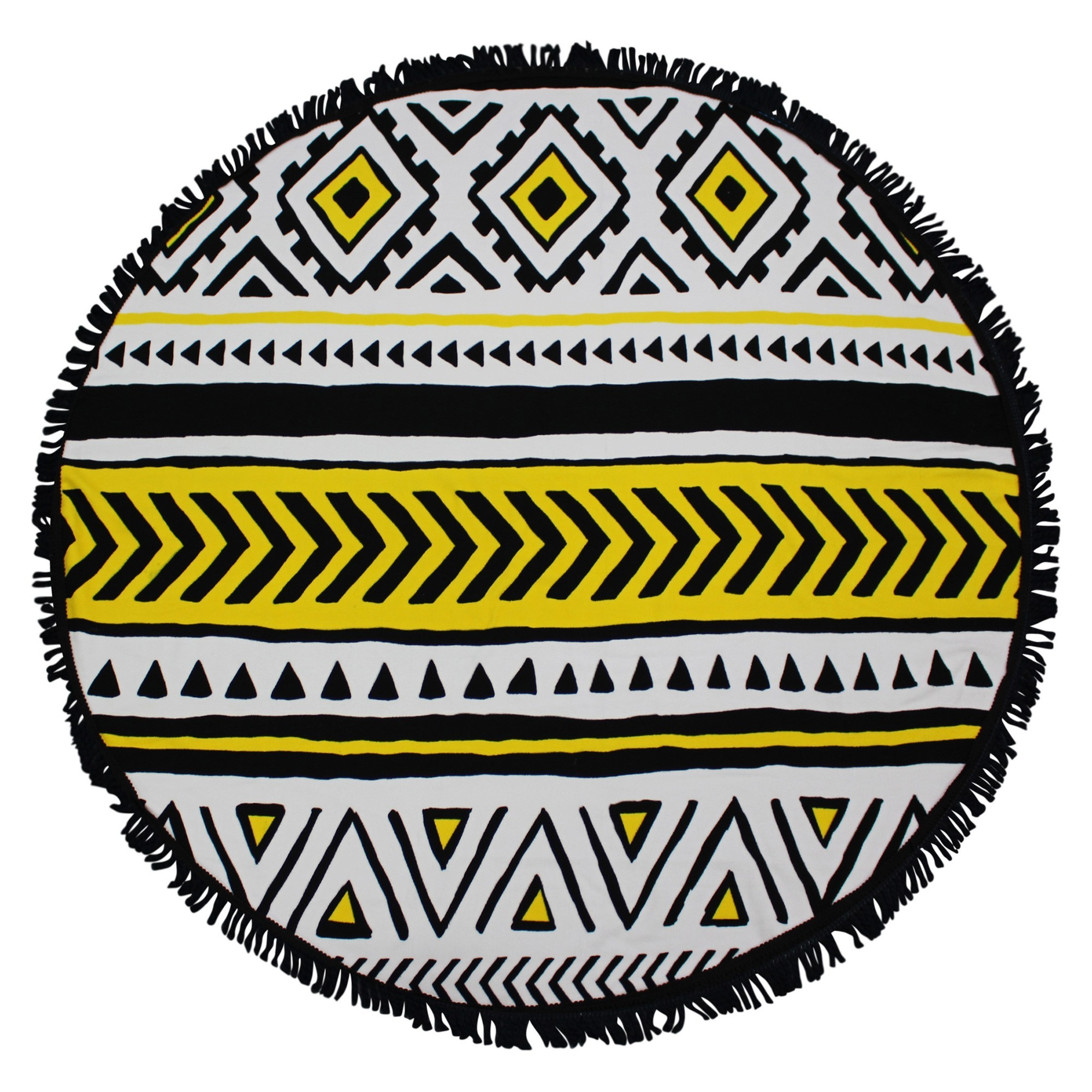 Odyssey Living Microfibre Round Beach Towel, Native, 140cm