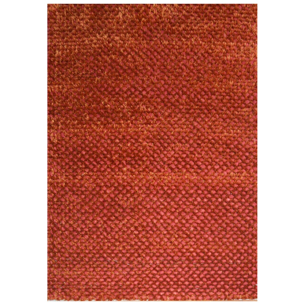 Bubble Modern Felted Wool Rug, 160x110cm, Red