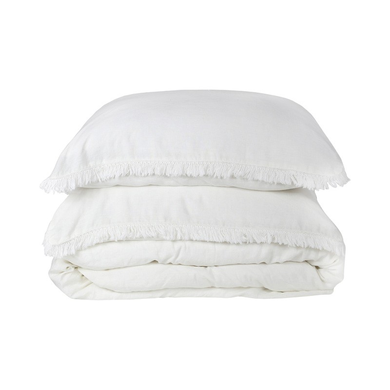 Bonilla Linen Duvet Cover Set, King, White