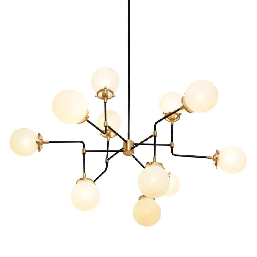 Replica Bistro Globe Chandelier, 12 Light