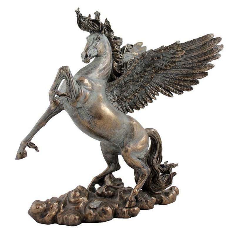 Cast Bronze Greek Mythology Figurine, Pegasus