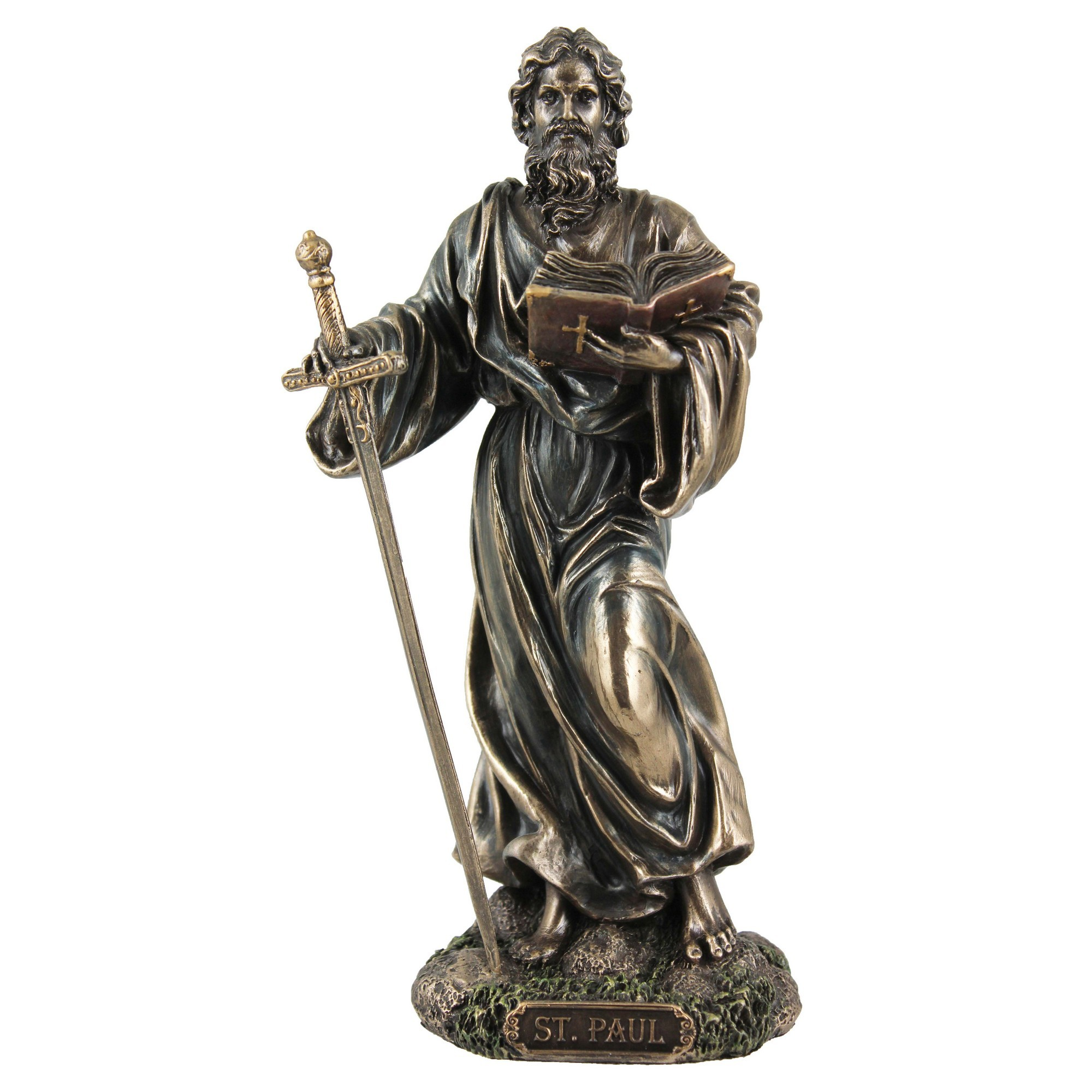 Veronese Cold Cast Bronze Coated Figurine, St. Paul