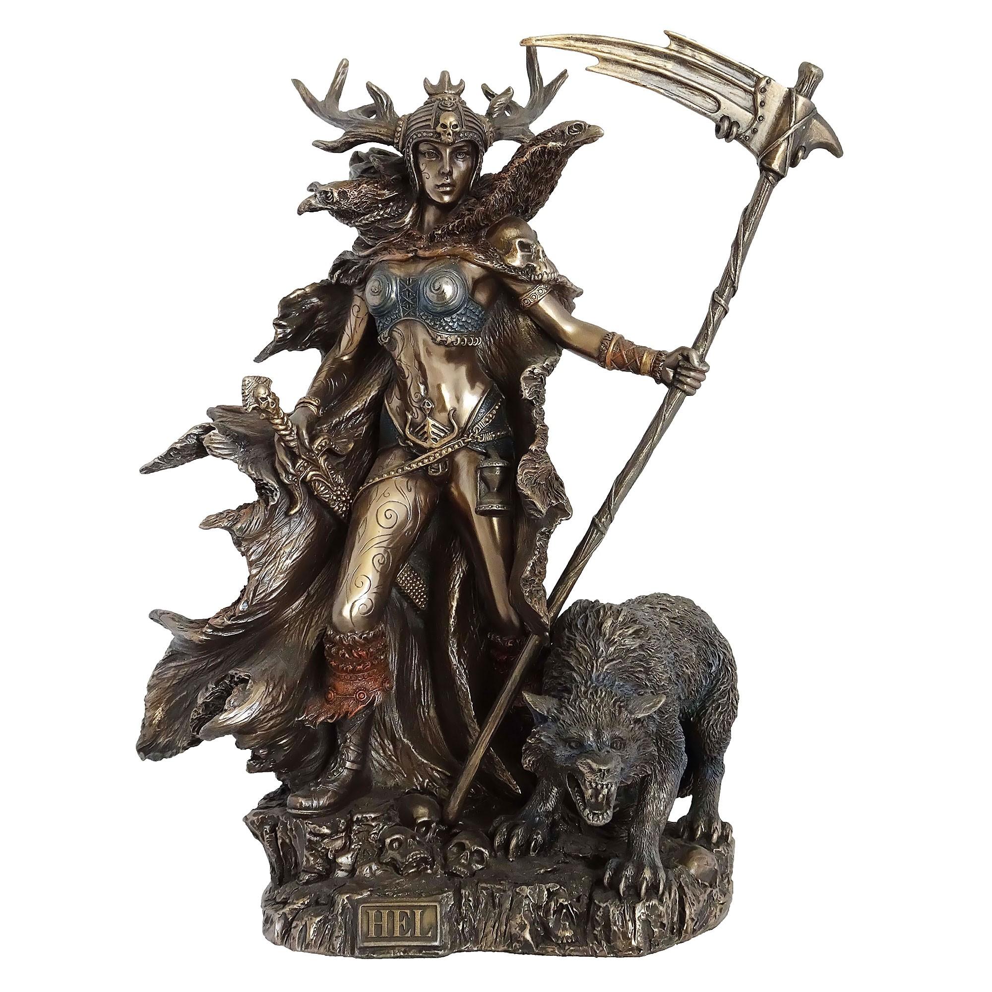 Veronese Cold Cast Bronze Coated Norse Mythology Figurine, Hel