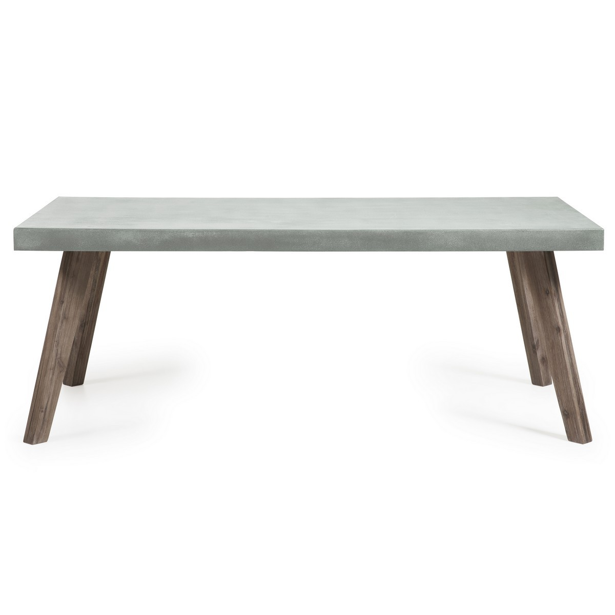 Mavielle Poly Cement & Acacia Timber Indoor / Outdoor Dining Table, 200cm