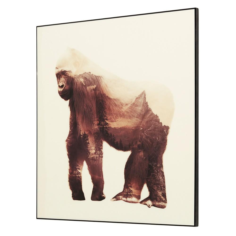 Wilden Framed Wall Art Print, Gorilla, 60cm
