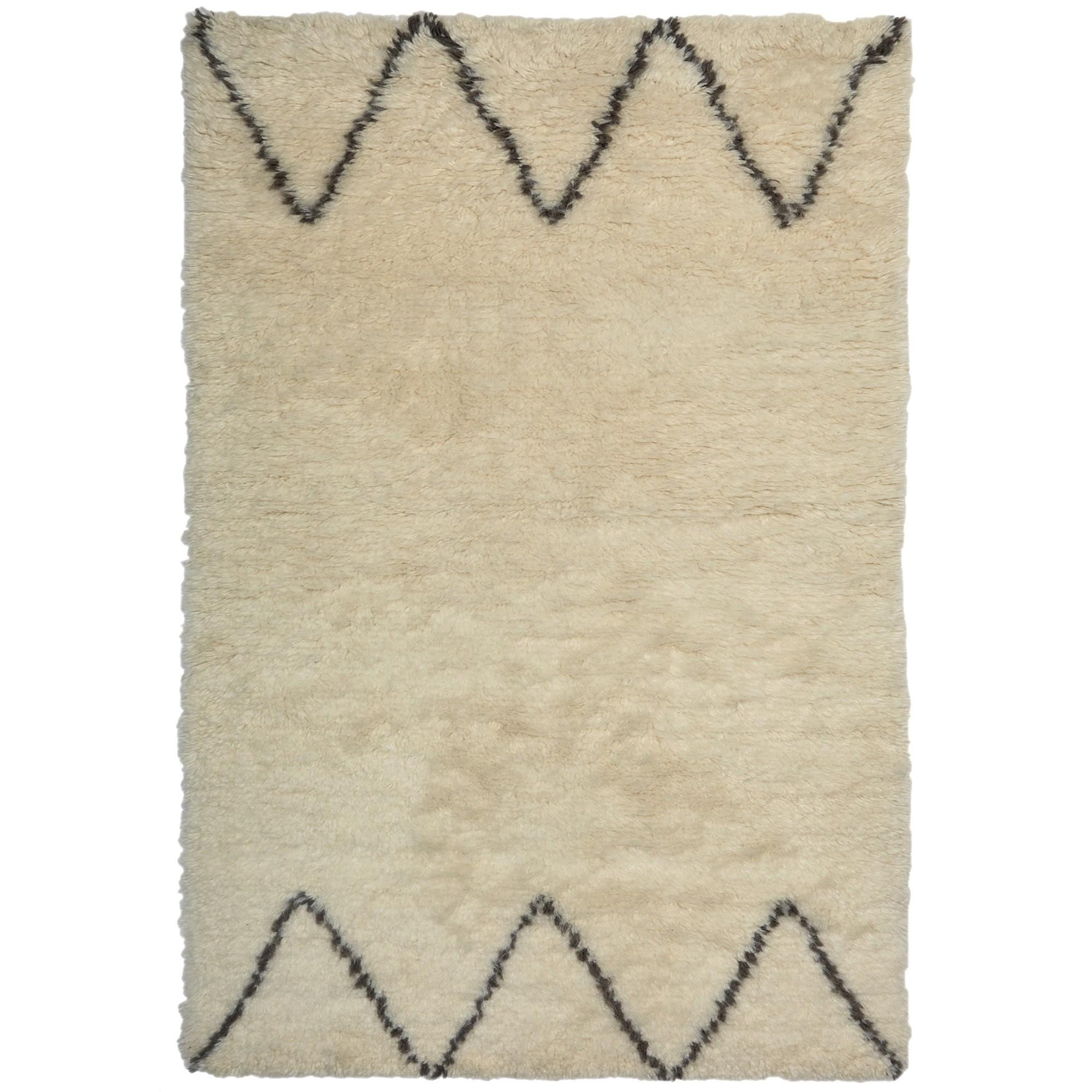 Casablanca No.001 New Zealand Wool Shag Rug, 140x70cm