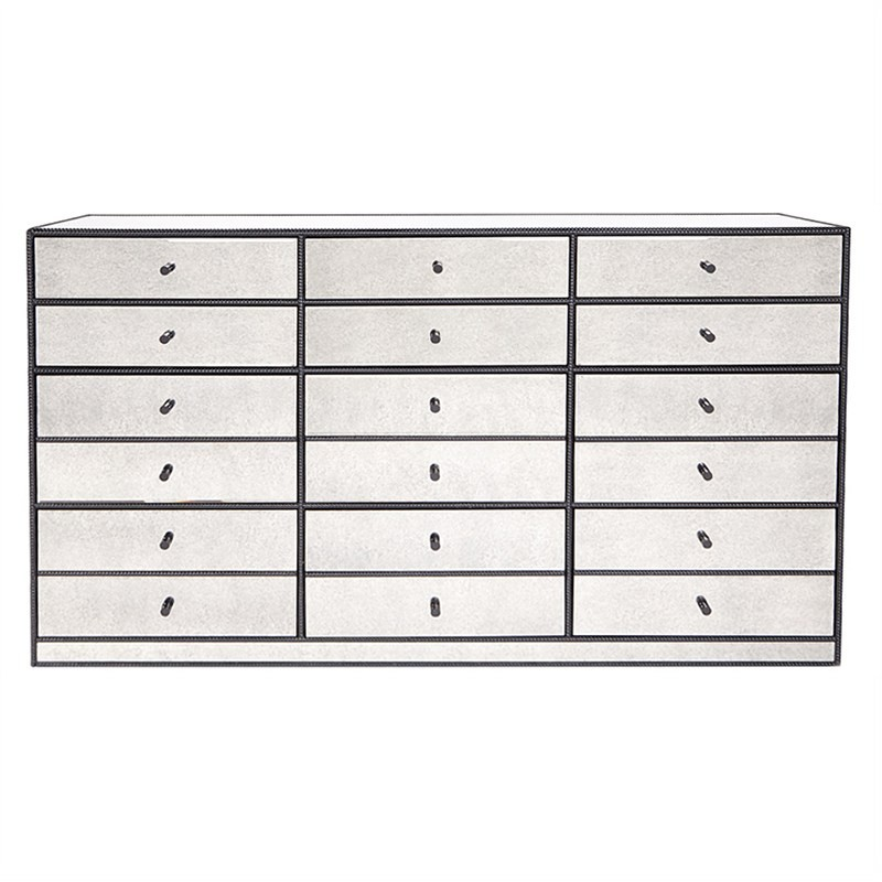 Brentwood Mirrored Multi Drawer Chest