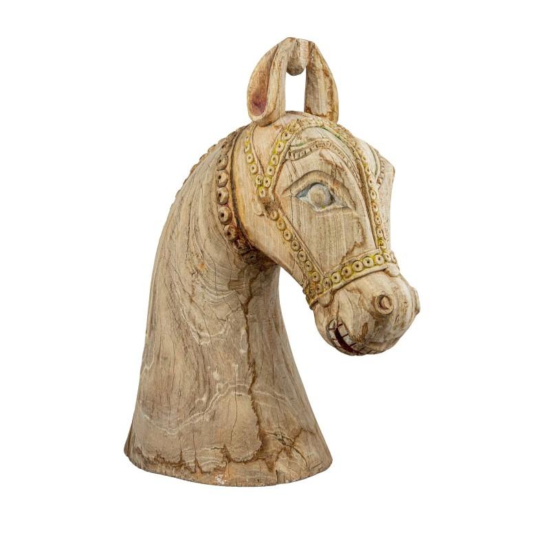 Giles Wooden Horse Head Sculpture