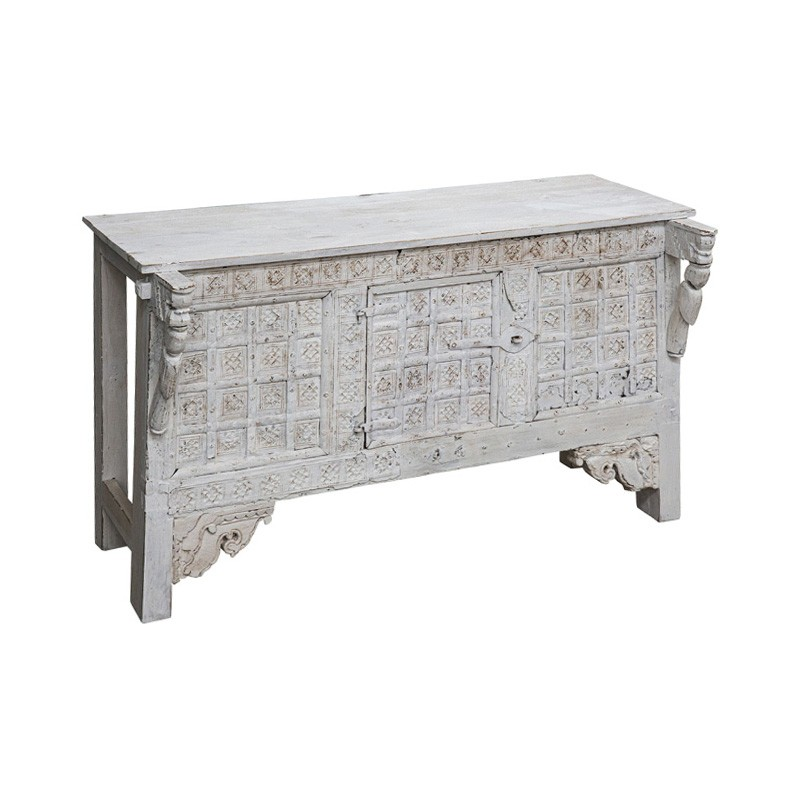 Caravan Carved Timber Console Table, 122cm
