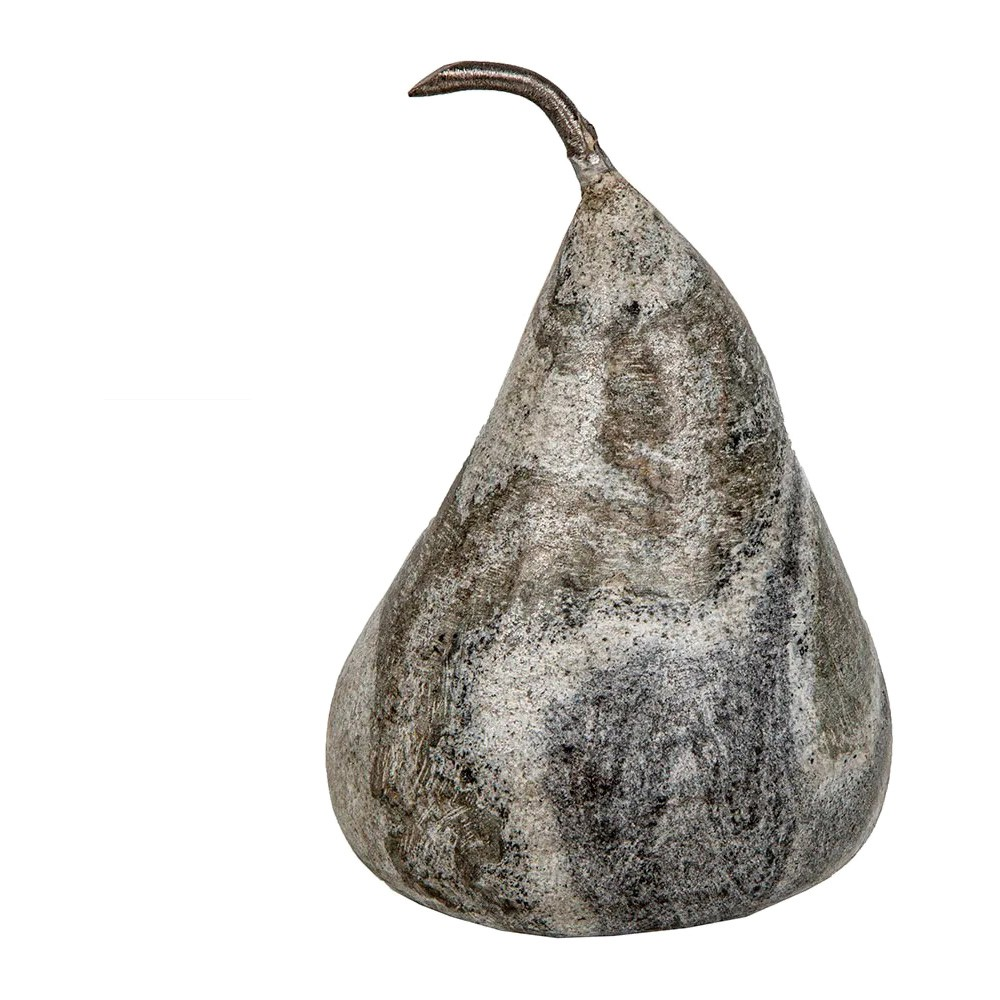 Burang Marble Pear Ornament, Large, Black