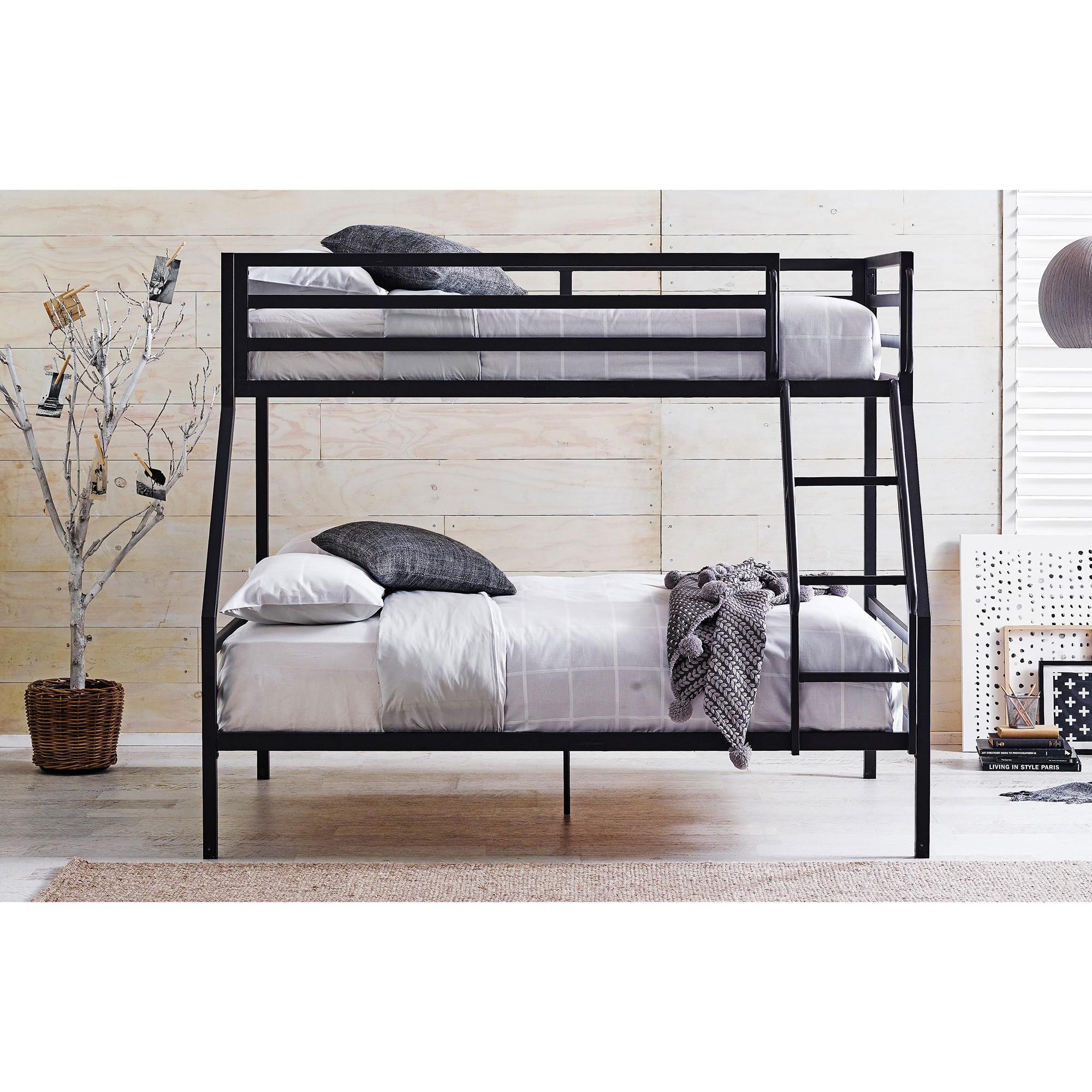 Castle Metal Bunk Bed, Trio, Black