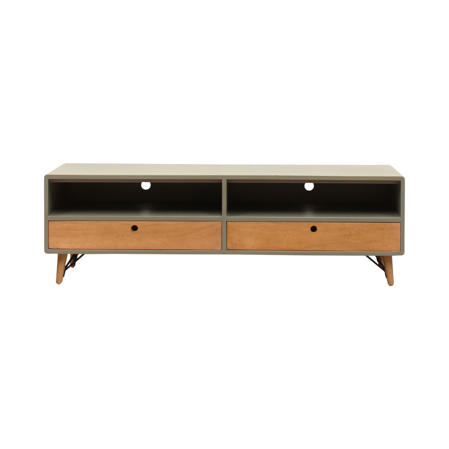 Milton Wooden 2 Drawer TV Unit, 150cm