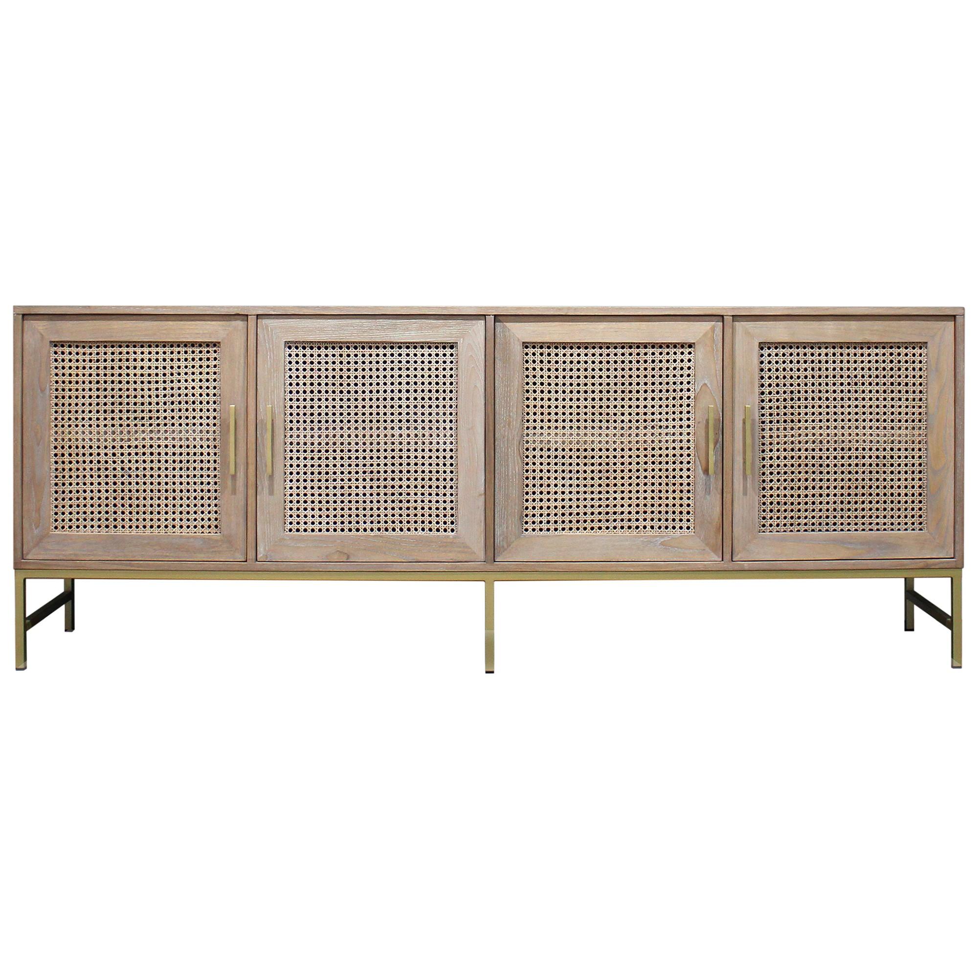 Monterey Sungkai Wood 4 Door Buffet Table, 210cm