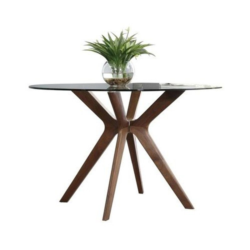 Forza Round Dining Table, 120cm, Oak