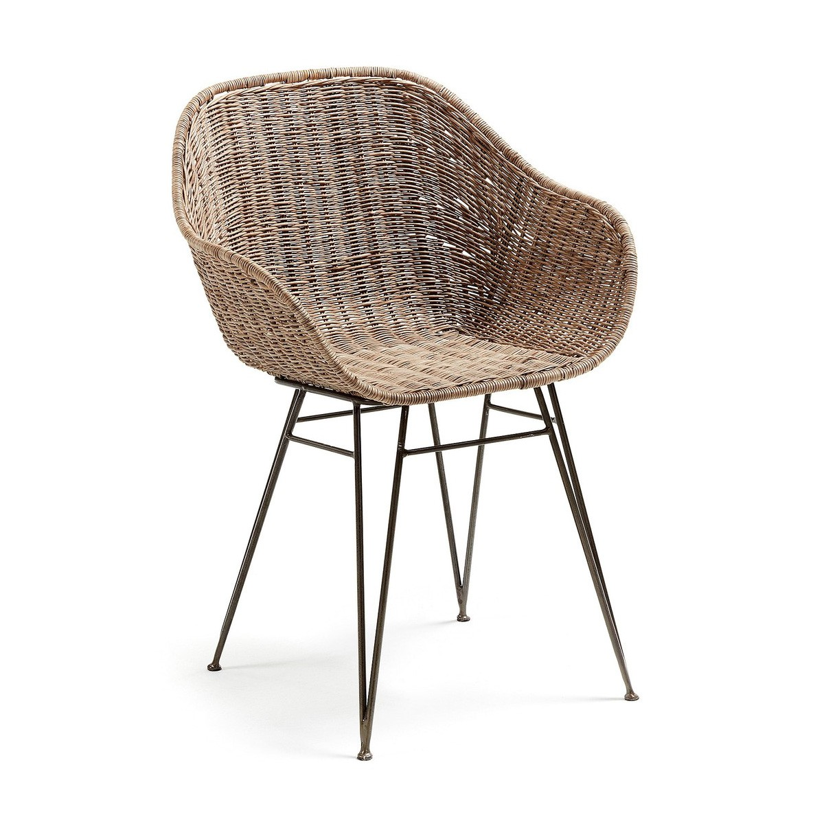 Akres Wicker Dining Armchair