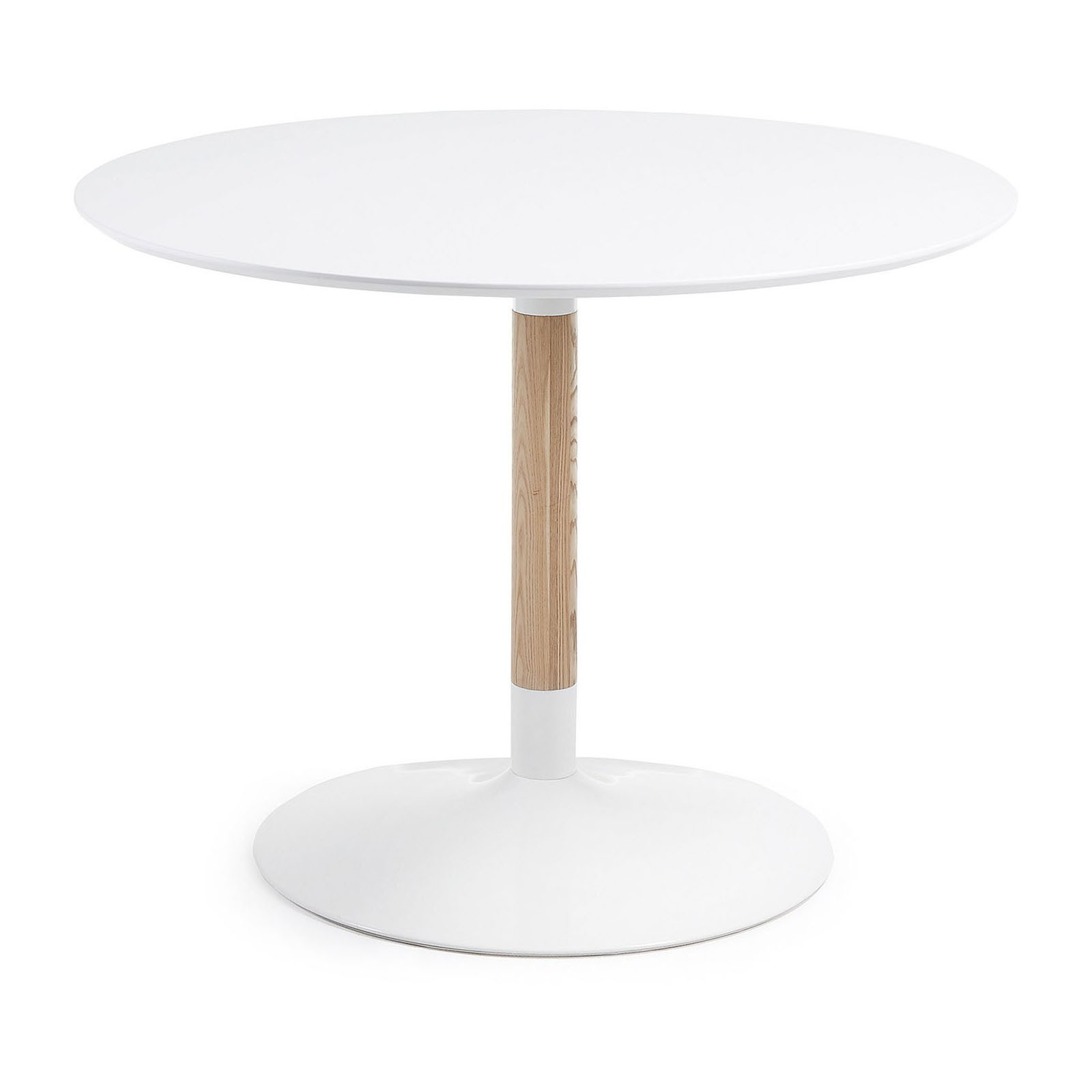 Castillo Round Dining Table, 110cm, White