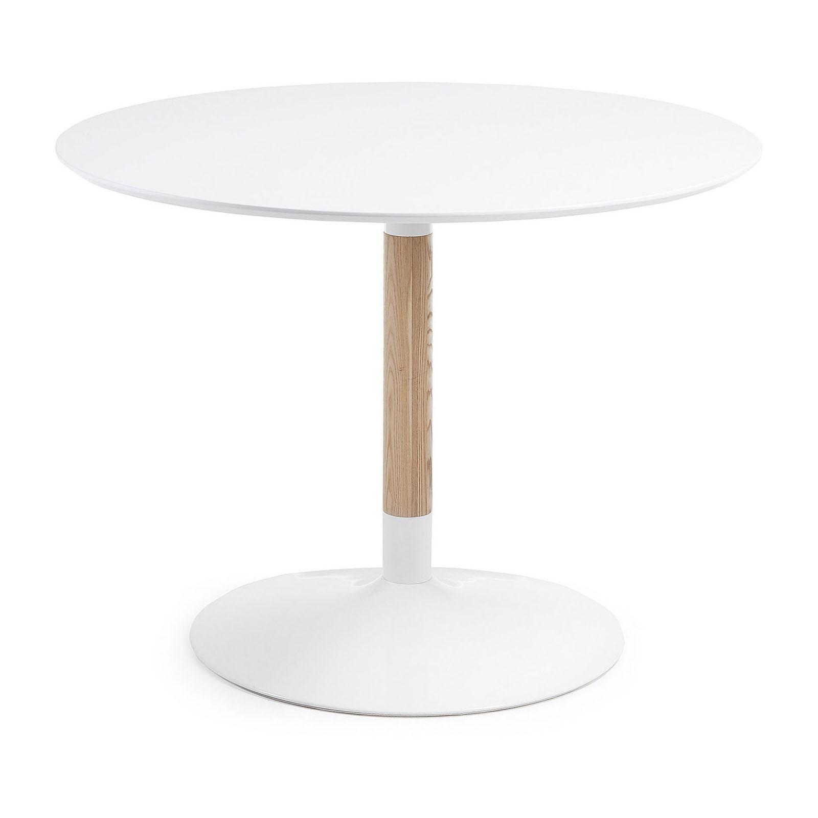 Castillo Round Dining Table, 110cm, White